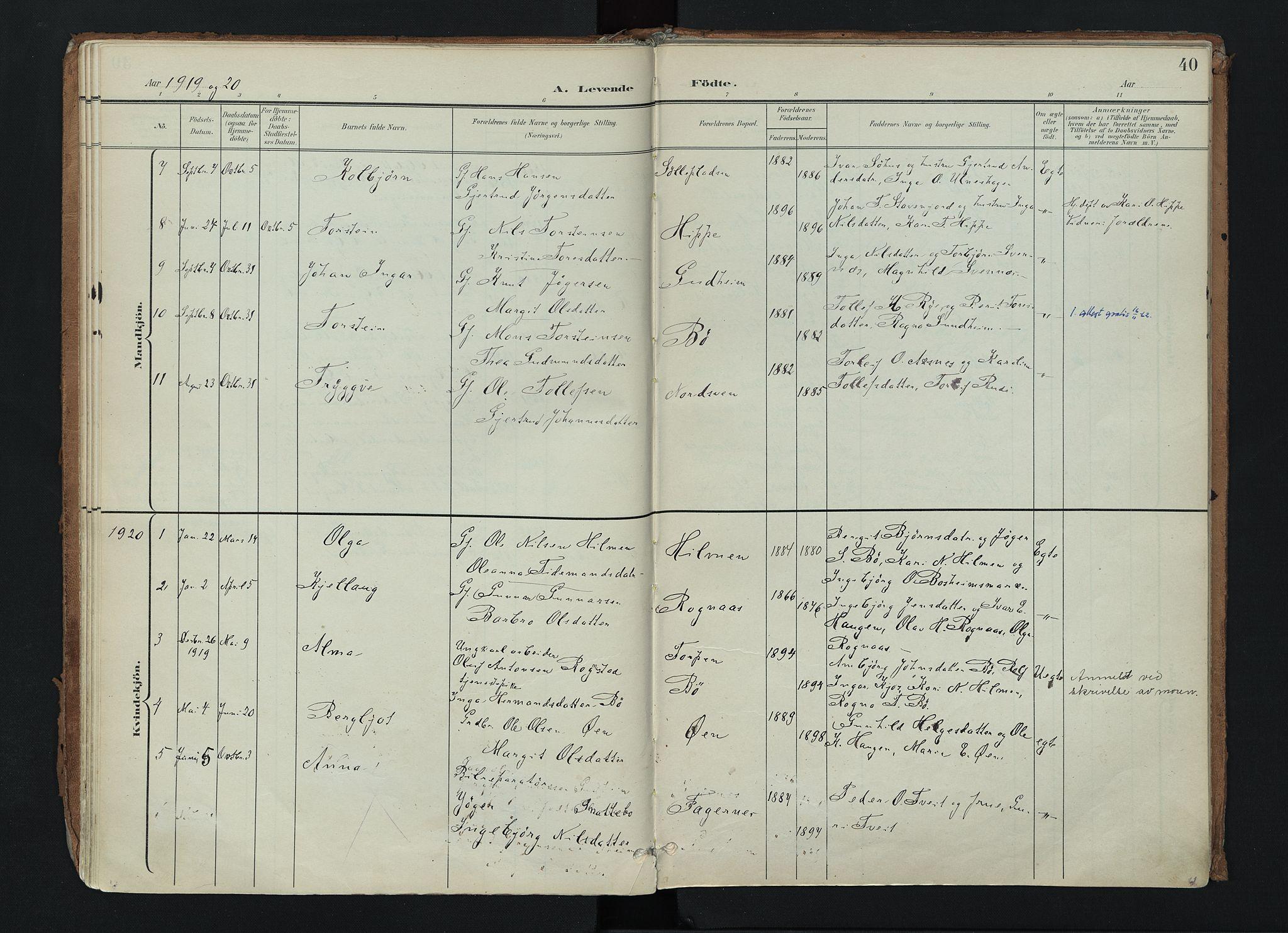 SAH, Nord-Aurdal prestekontor, Ministerialbok nr. 17, 1897-1926, s. 40