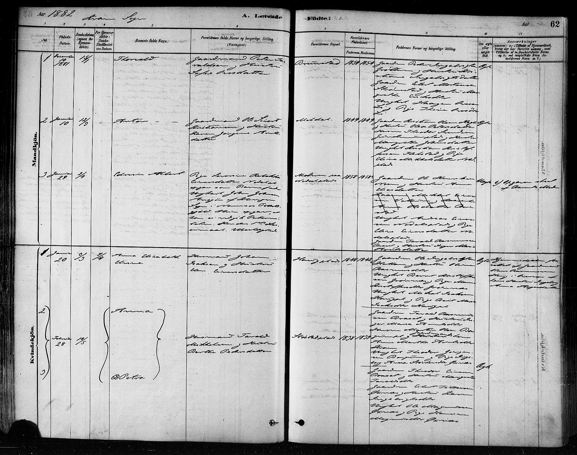 SAT, Ministerialprotokoller, klokkerbøker og fødselsregistre - Nord-Trøndelag, 746/L0449: Ministerialbok nr. 746A07 /2, 1878-1899, s. 61