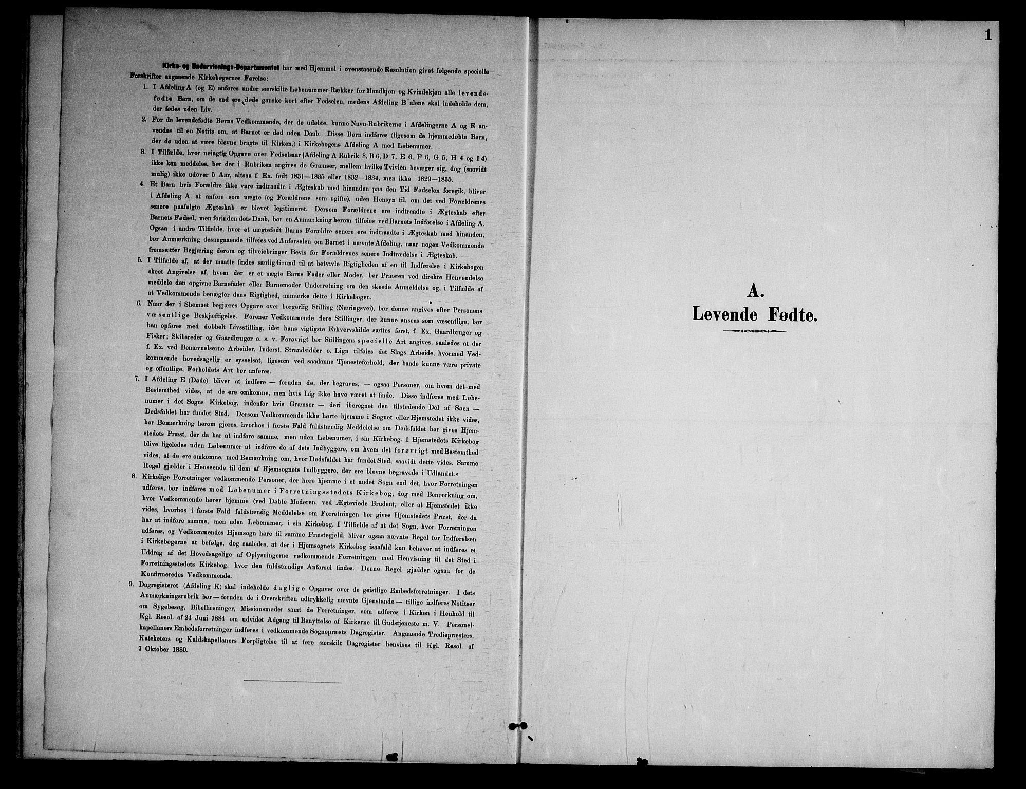 SAKO, Nissedal kirkebøker, G/Gb/L0003: Klokkerbok nr. II 3, 1893-1928, s. 1