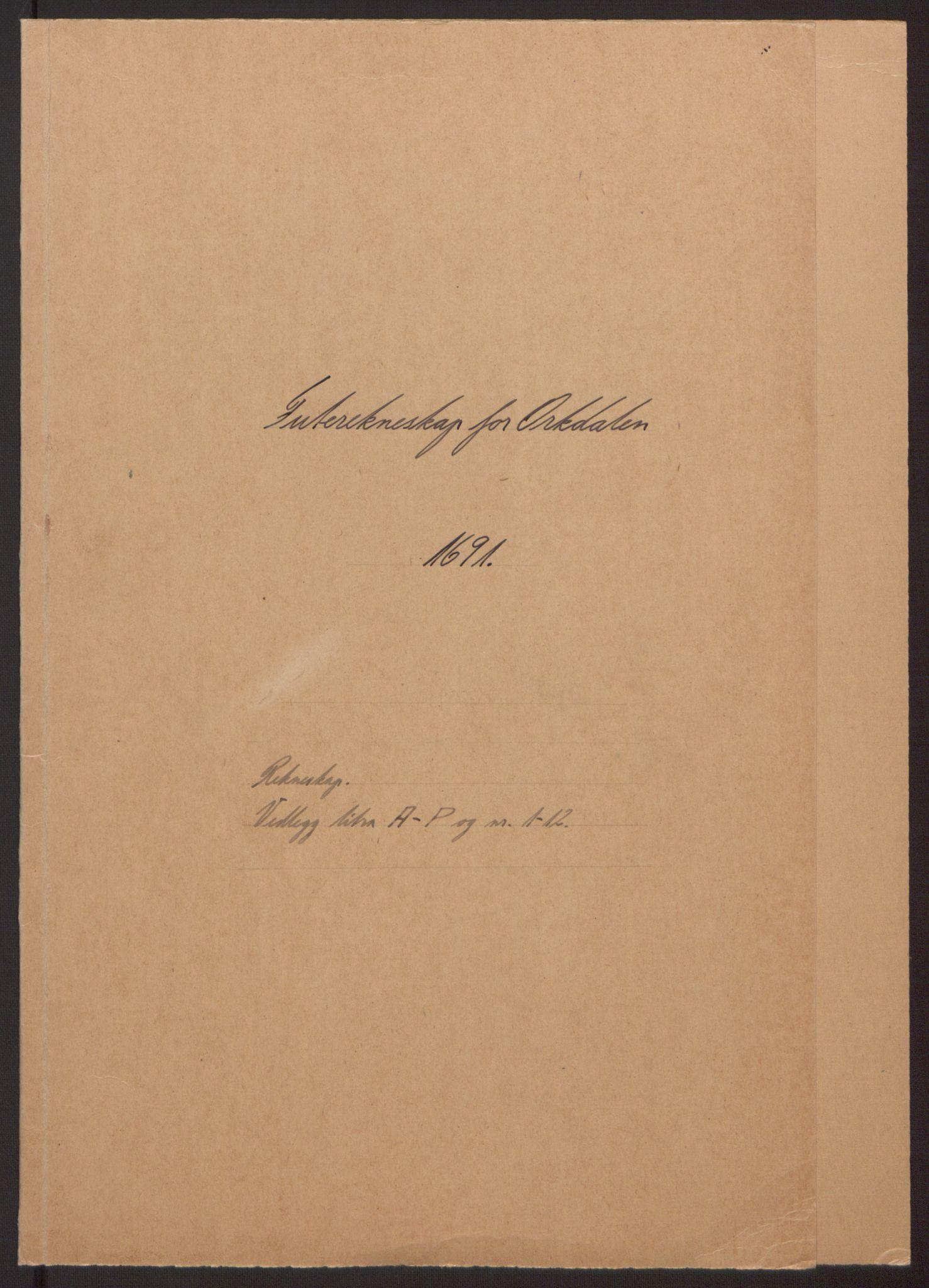 RA, Rentekammeret inntil 1814, Reviderte regnskaper, Fogderegnskap, R58/L3937: Fogderegnskap Orkdal, 1691-1692, s. 2