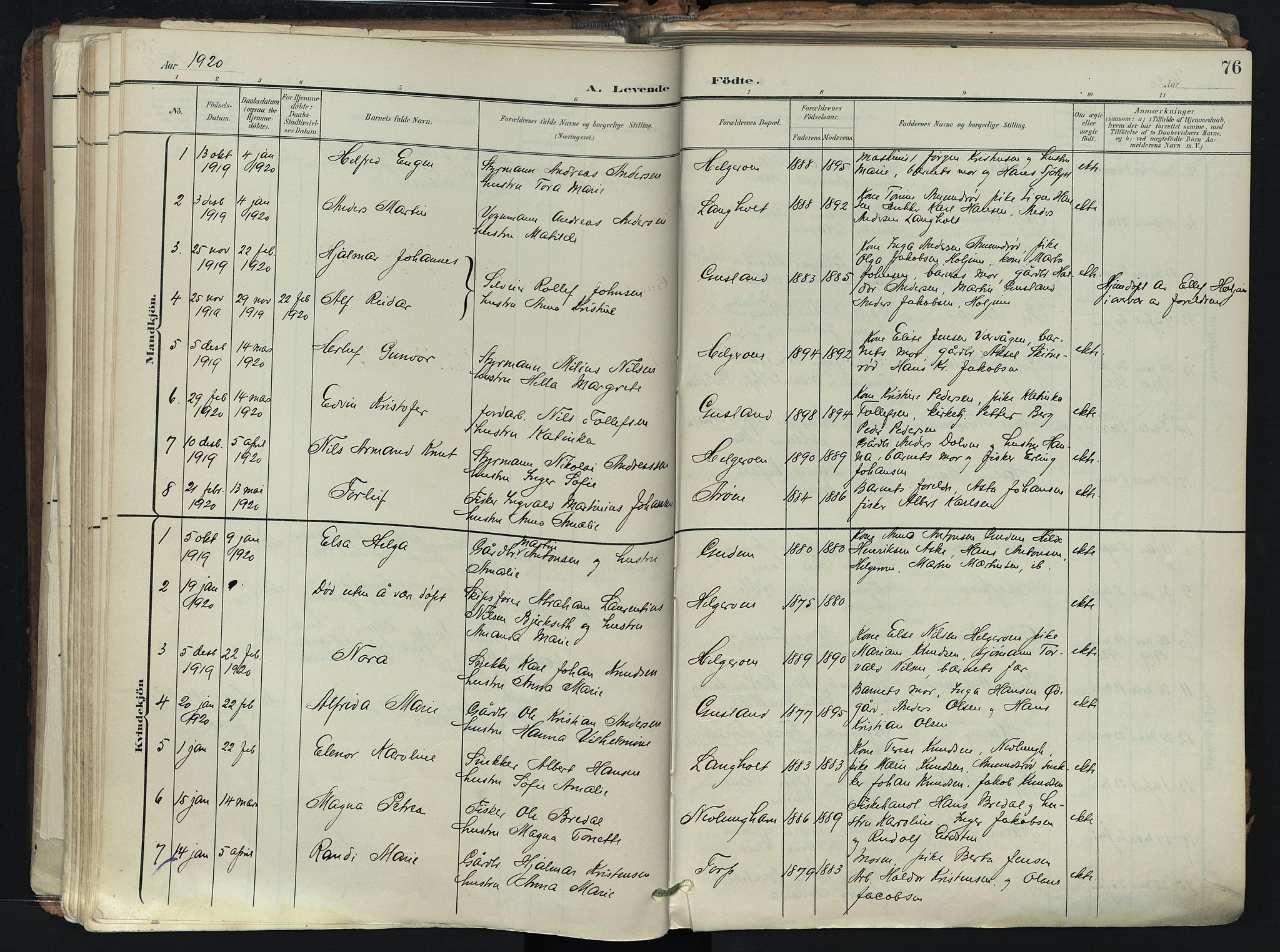 SAKO, Brunlanes kirkebøker, F/Fb/L0003: Ministerialbok nr. II 3, 1900-1922, s. 76