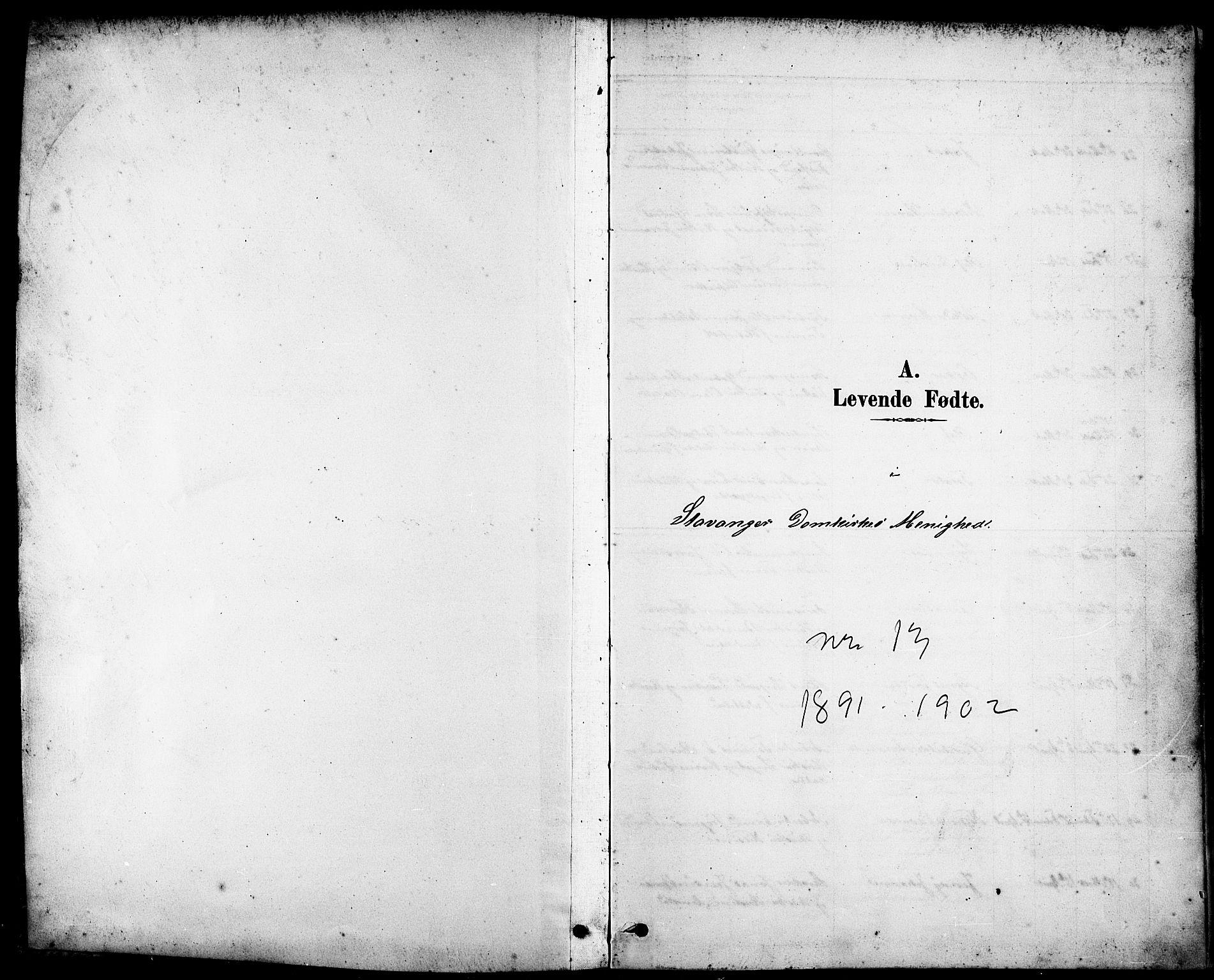 SAST, Domkirken sokneprestkontor, 30/30BB/L0016: Klokkerbok nr. B 16, 1891-1902