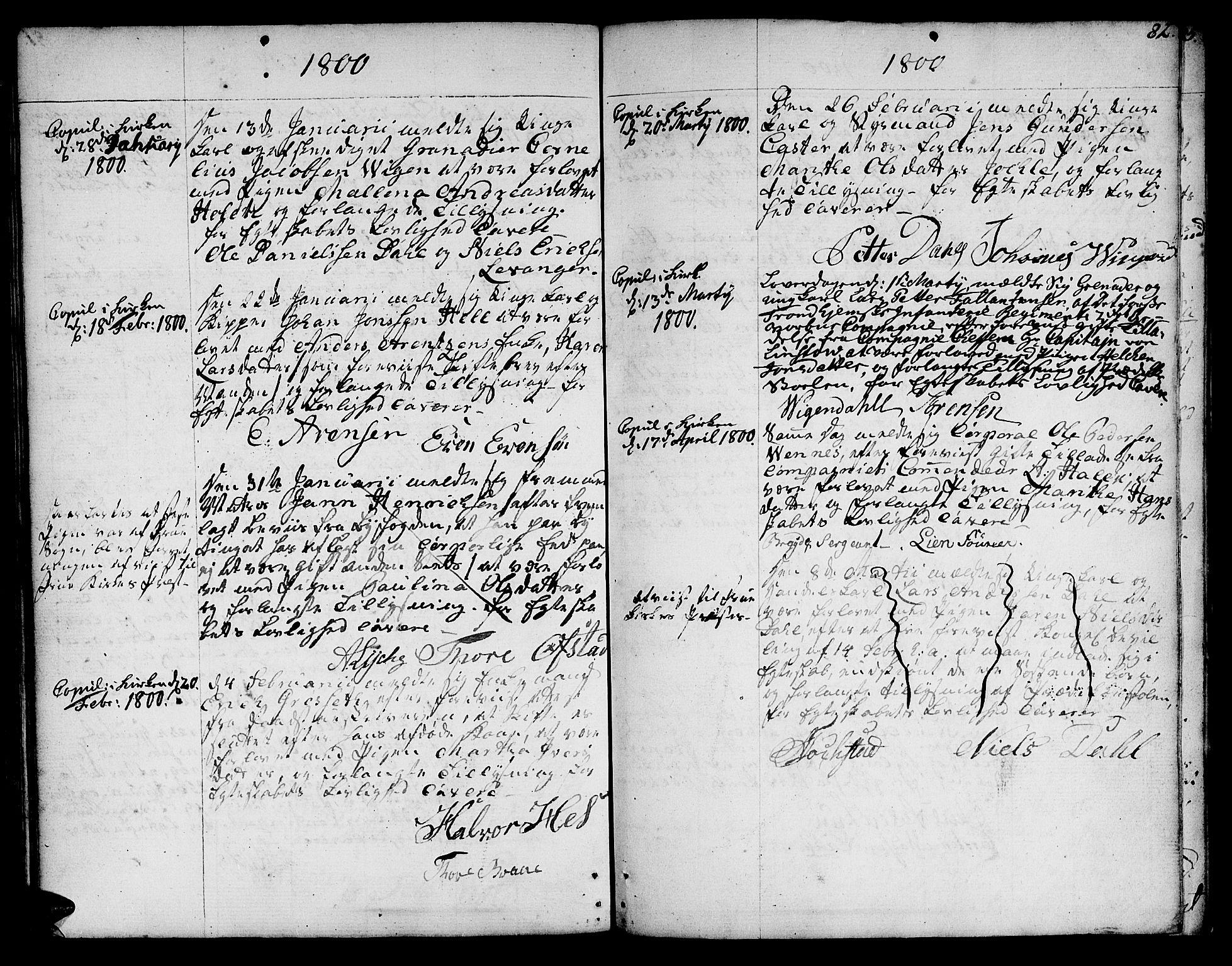 SAT, Ministerialprotokoller, klokkerbøker og fødselsregistre - Sør-Trøndelag, 601/L0041: Ministerialbok nr. 601A09, 1784-1801, s. 82