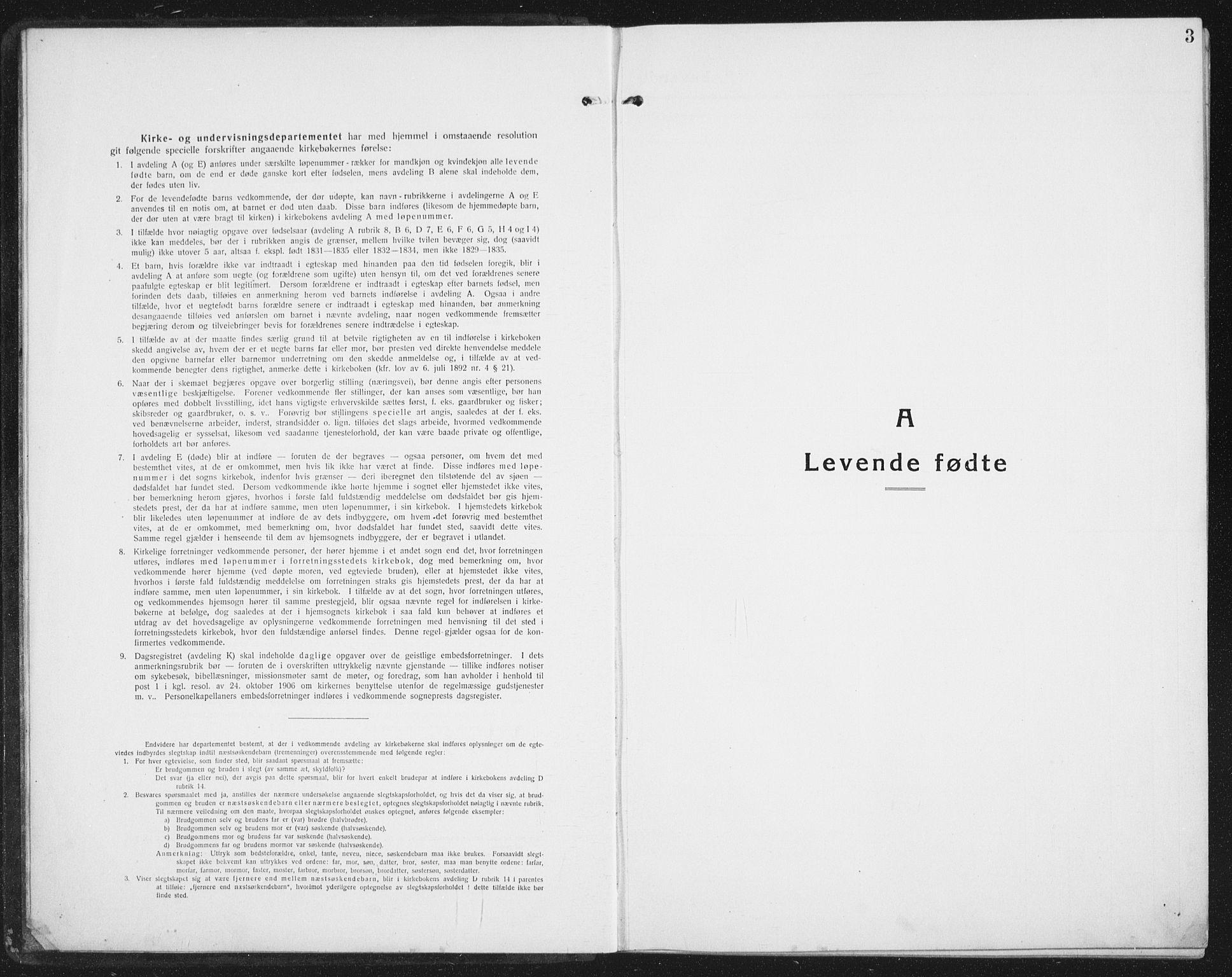 SAT, Ministerialprotokoller, klokkerbøker og fødselsregistre - Nordland, 898/L1428: Klokkerbok nr. 898C03, 1918-1938, s. 3
