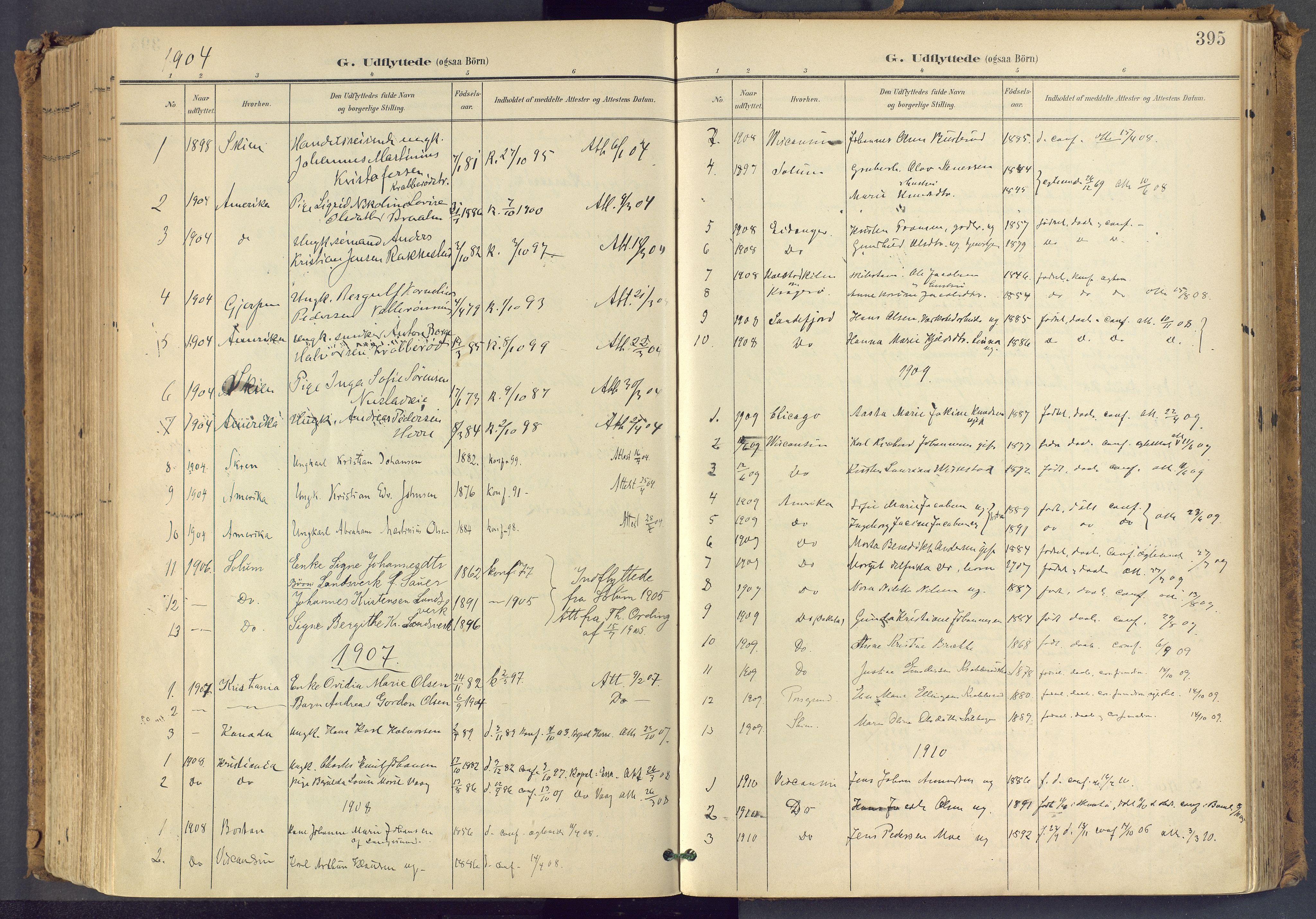 SAKO, Bamble kirkebøker, F/Fa/L0009: Ministerialbok nr. I 9, 1901-1917, s. 395