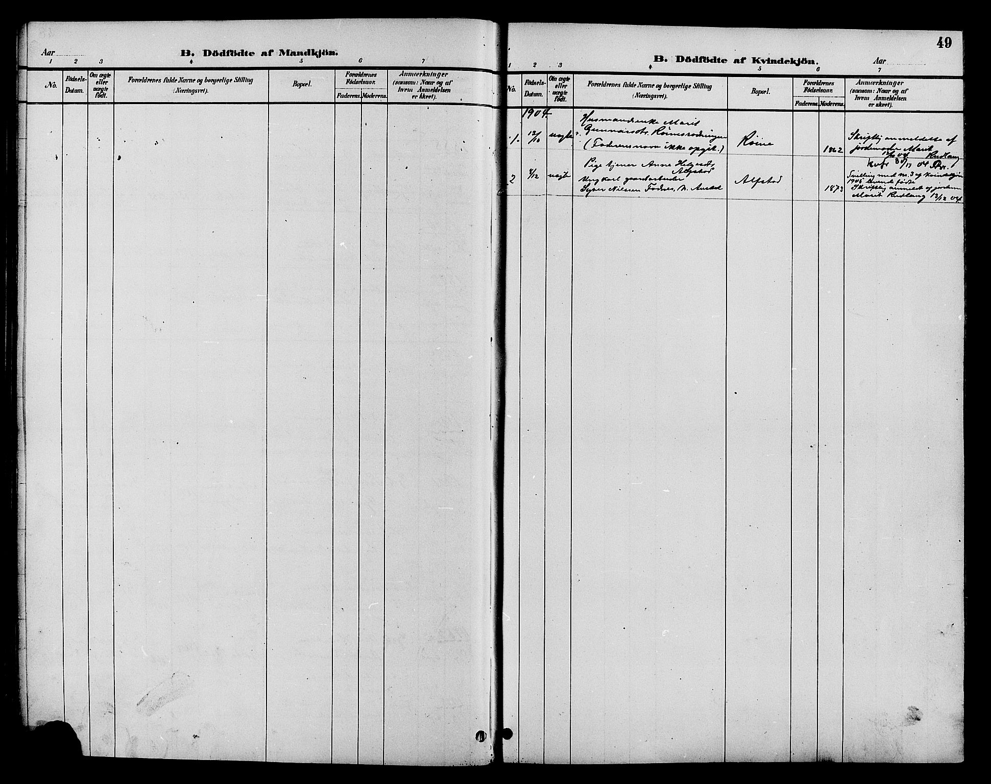 SAH, Øystre Slidre prestekontor, Klokkerbok nr. 4, 1887-1907, s. 49