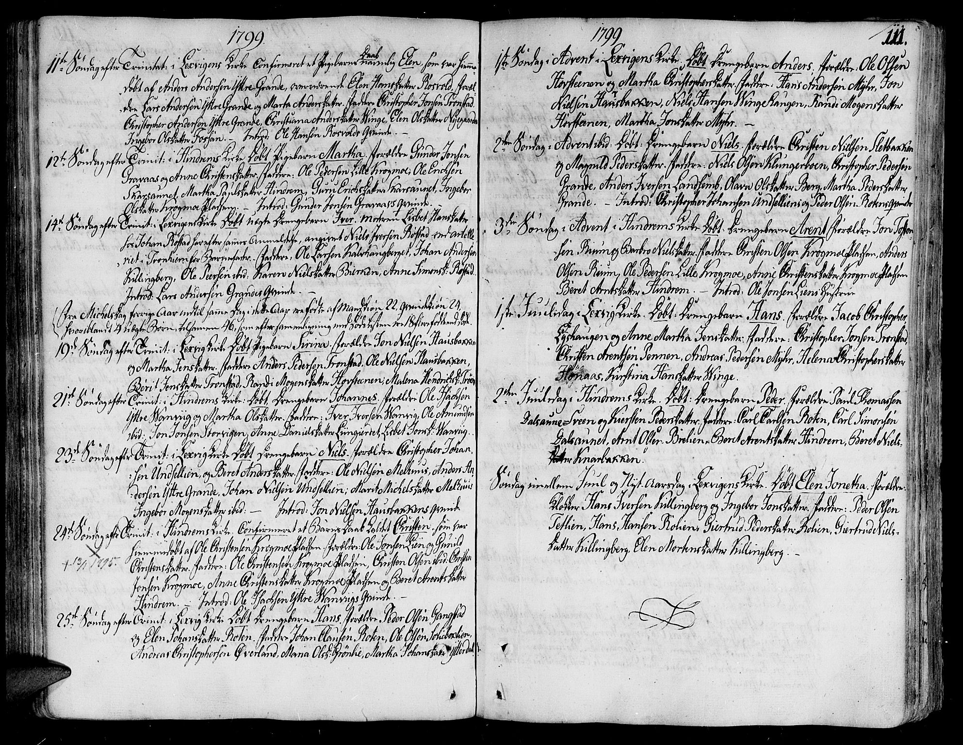 SAT, Ministerialprotokoller, klokkerbøker og fødselsregistre - Nord-Trøndelag, 701/L0004: Ministerialbok nr. 701A04, 1783-1816, s. 111