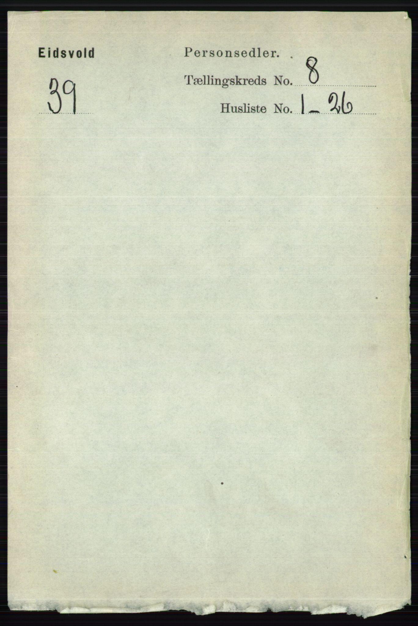 RA, Folketelling 1891 for 0237 Eidsvoll herred, 1891, s. 5274
