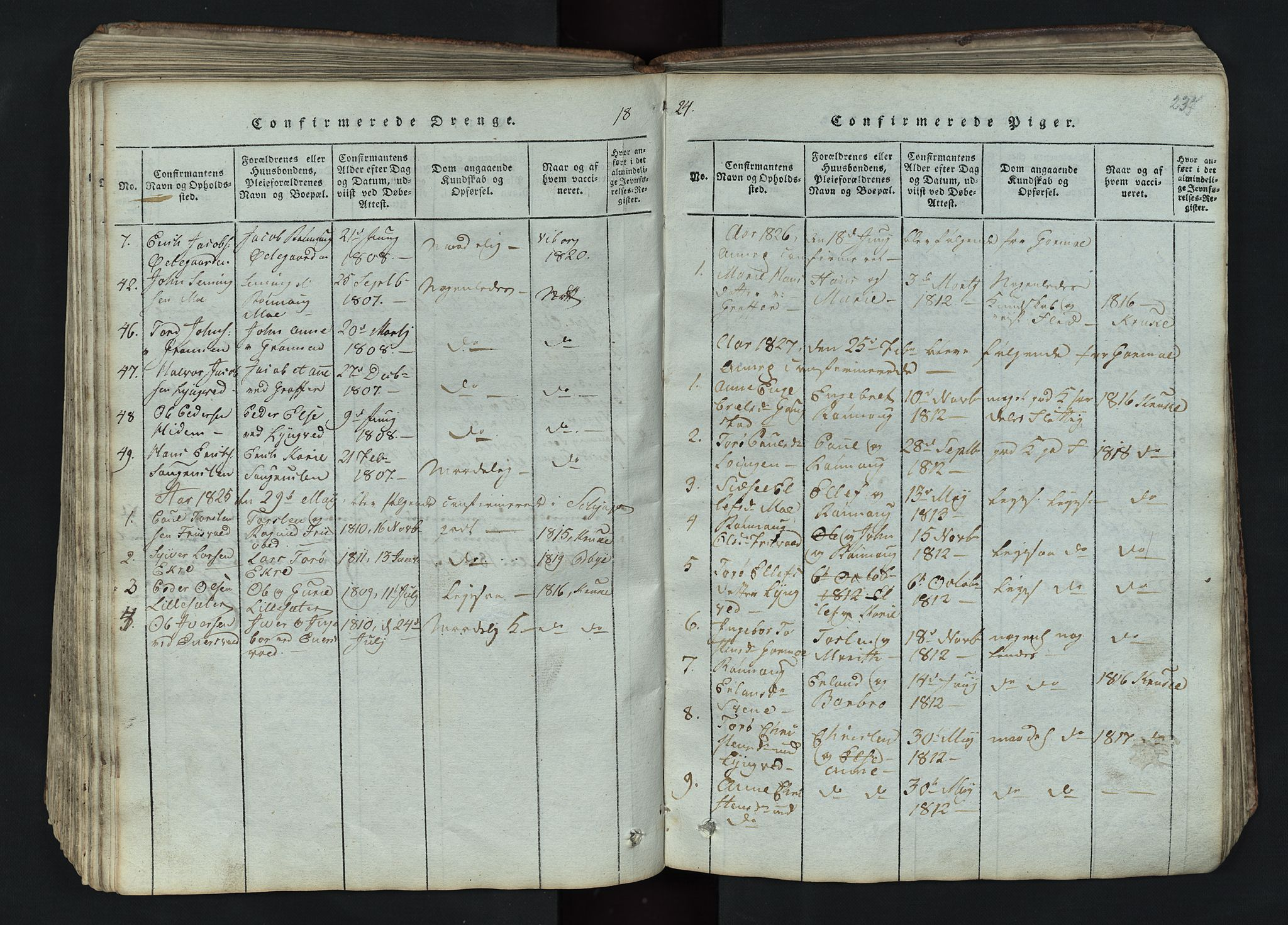 SAH, Lom prestekontor, L/L0002: Klokkerbok nr. 2, 1815-1844, s. 237