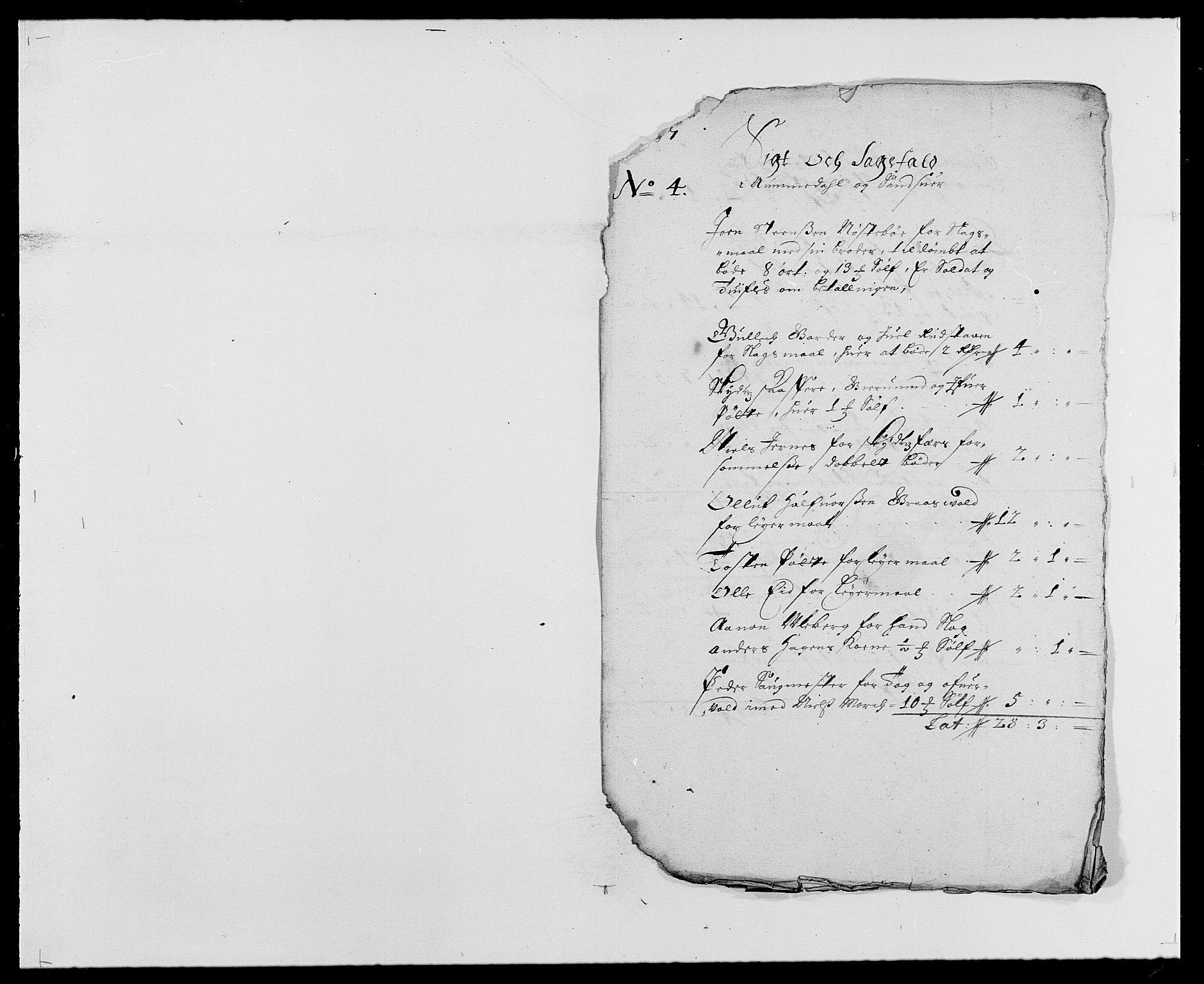 RA, Rentekammeret inntil 1814, Reviderte regnskaper, Fogderegnskap, R24/L1573: Fogderegnskap Numedal og Sandsvær, 1687-1691, s. 29