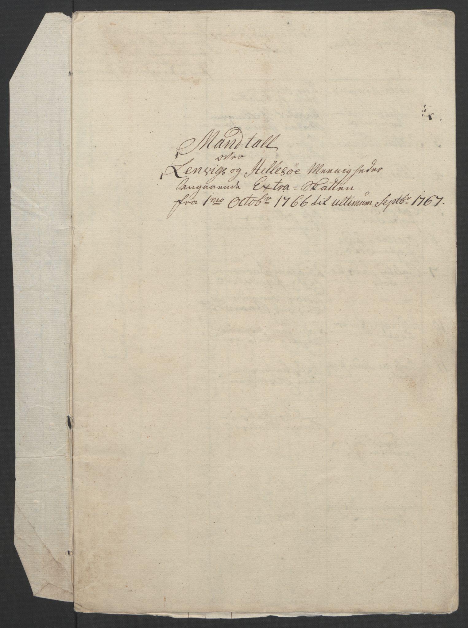 RA, Rentekammeret inntil 1814, Realistisk ordnet avdeling, Ol/L0022b: [Gg 10]: Ekstraskatten, 23.09.1762. Senja og Troms, 1765-1768, s. 168