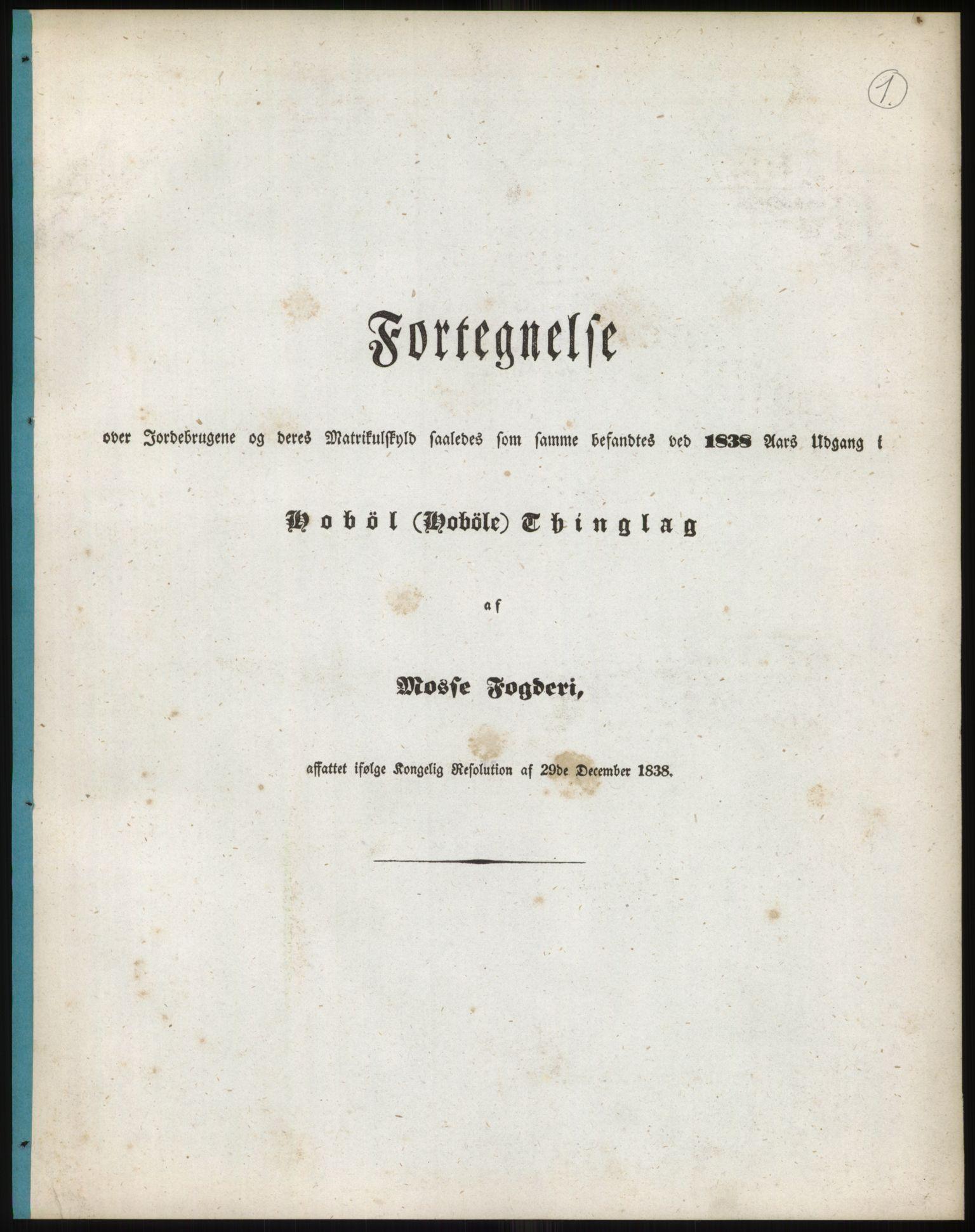 RA, 1838-matrikkelen (publikasjon)*, 1838, s. 2