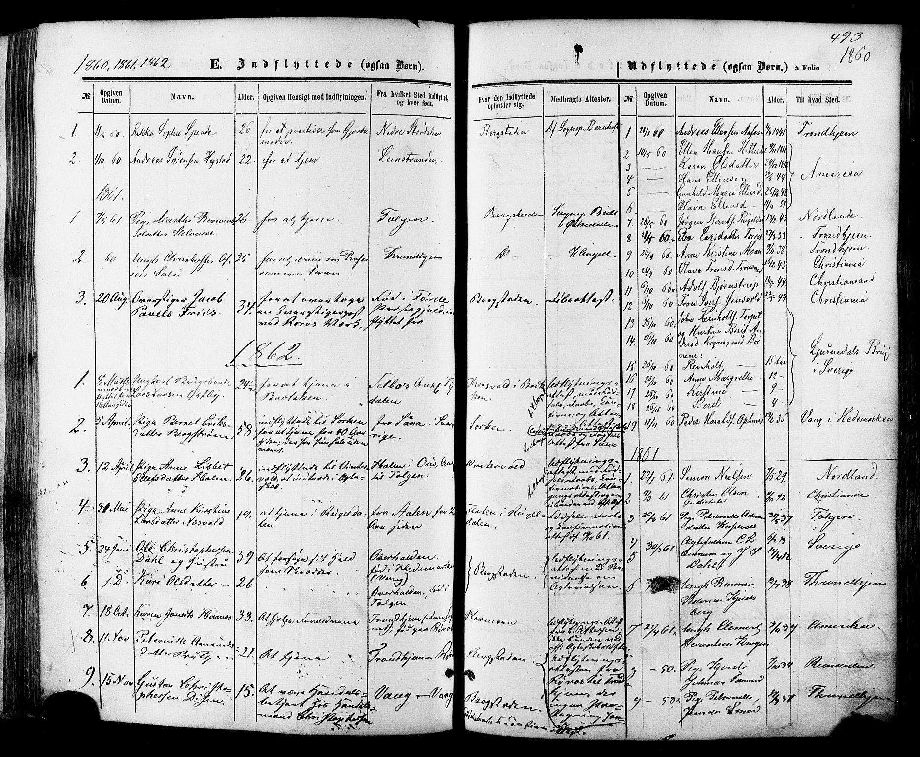 SAT, Ministerialprotokoller, klokkerbøker og fødselsregistre - Sør-Trøndelag, 681/L0932: Ministerialbok nr. 681A10, 1860-1878, s. 493