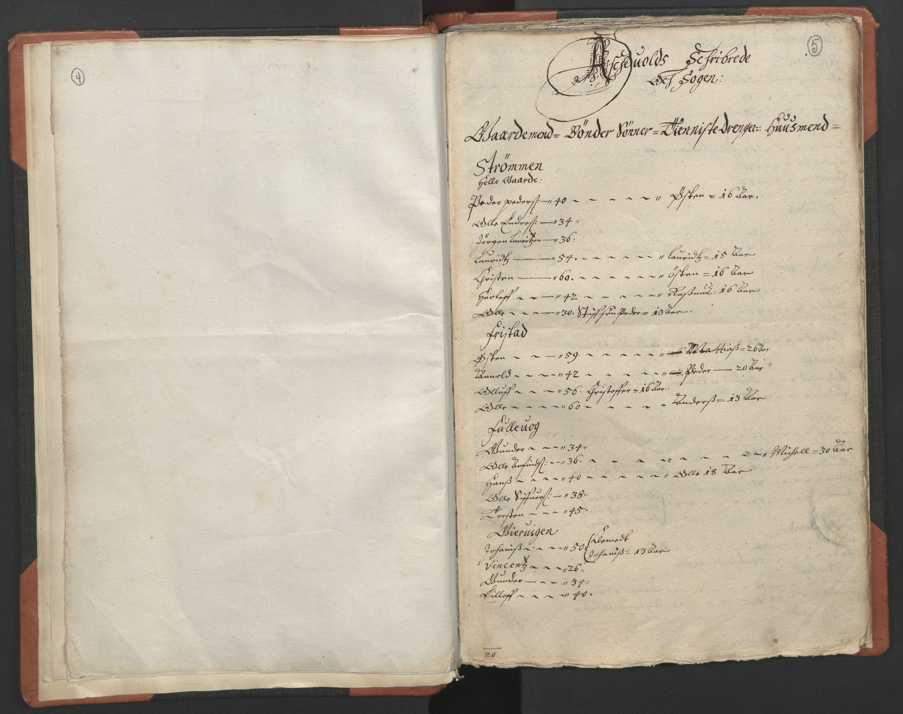RA, Sogneprestenes manntall 1664-1666, nr. 24: Sunnfjord prosti, 1664-1666, s. 4-5