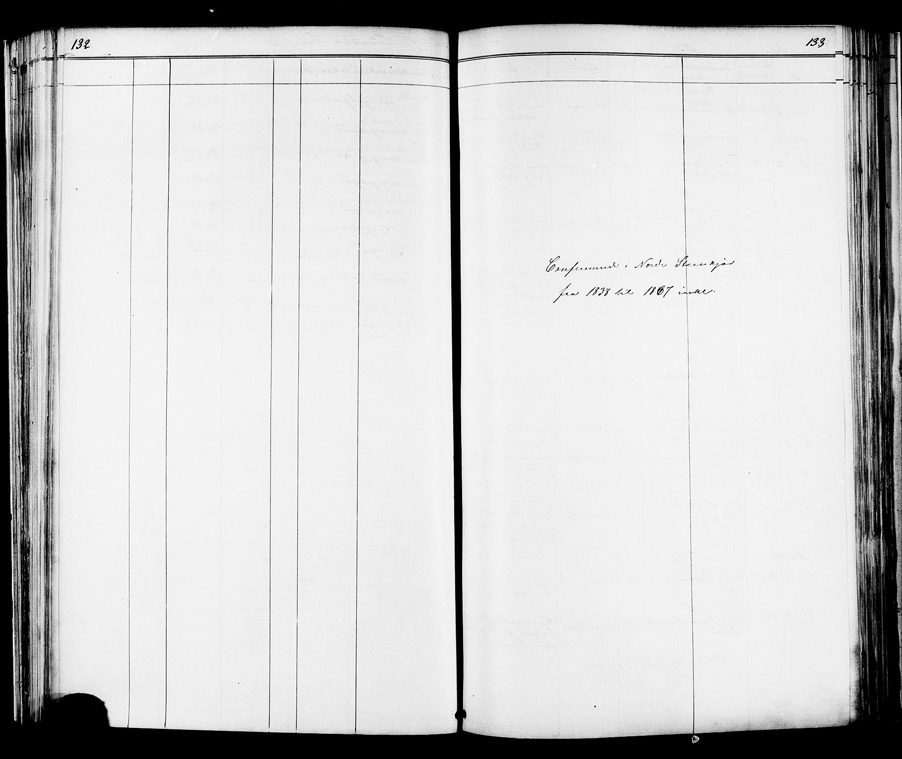 SAT, Ministerialprotokoller, klokkerbøker og fødselsregistre - Nord-Trøndelag, 739/L0367: Ministerialbok nr. 739A01 /2, 1838-1868, s. 132-133