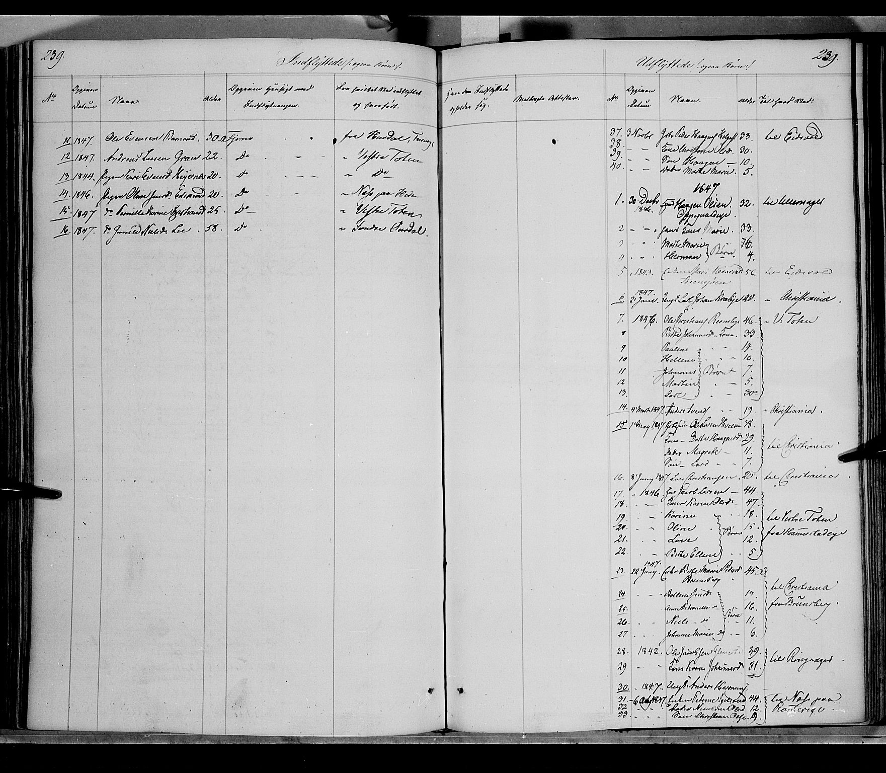 SAH, Østre Toten prestekontor, Ministerialbok nr. 2, 1840-1847, s. 239