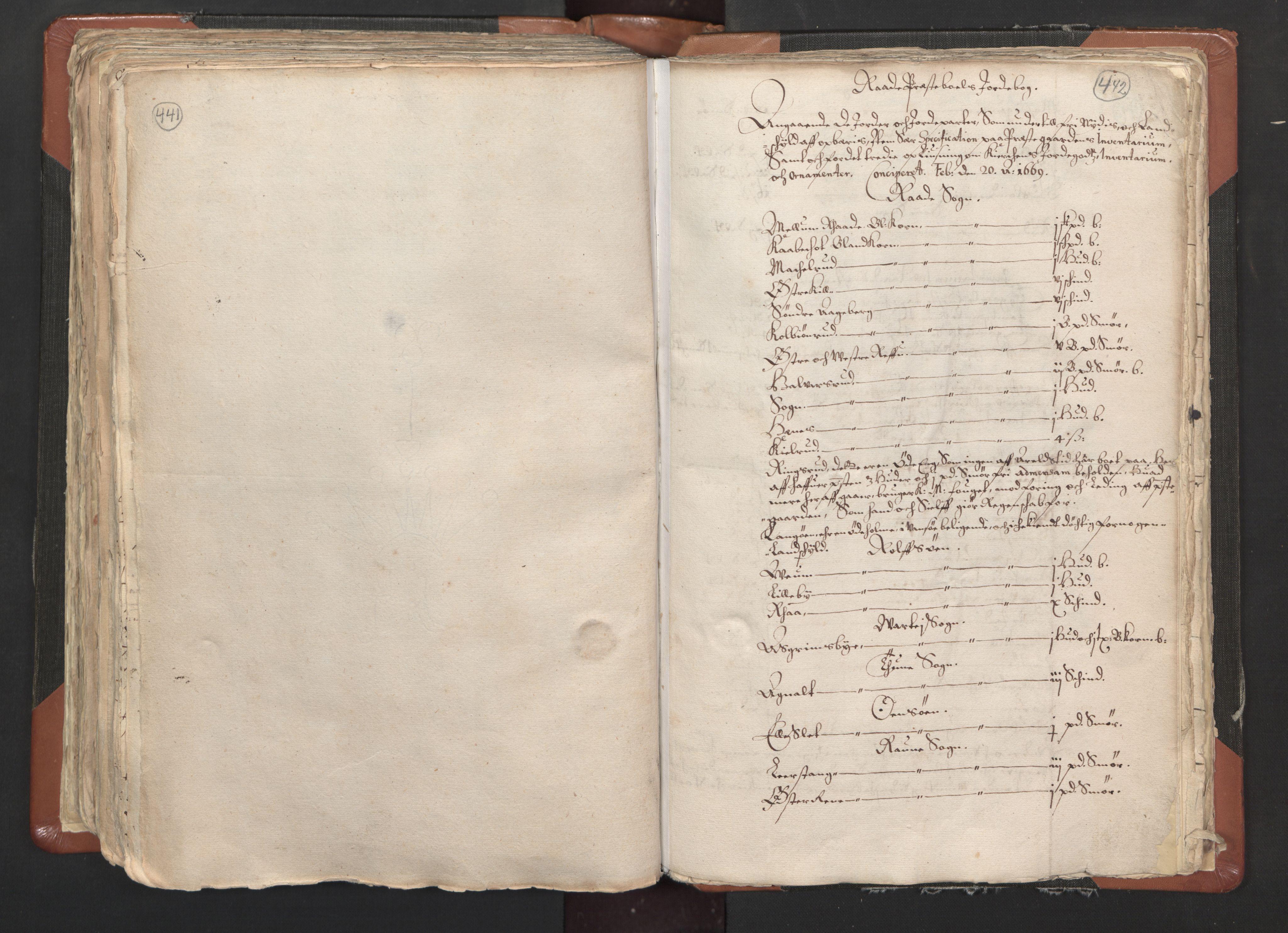 RA, Sogneprestenes manntall 1664-1666, nr. 1: Nedre Borgesyssel prosti, 1664-1666, s. 441-442