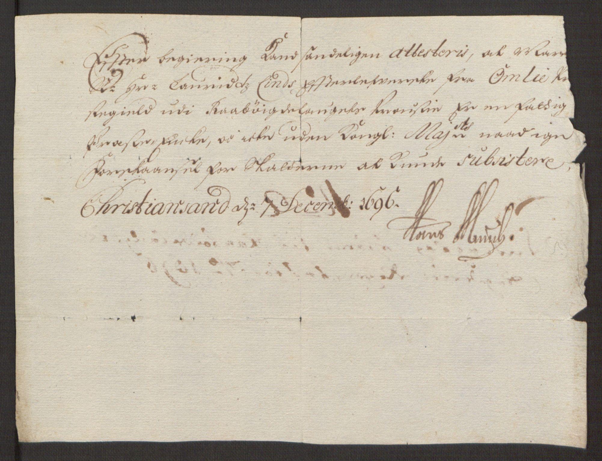RA, Rentekammeret inntil 1814, Reviderte regnskaper, Fogderegnskap, R40/L2444: Fogderegnskap Råbyggelag, 1693-1696, s. 338
