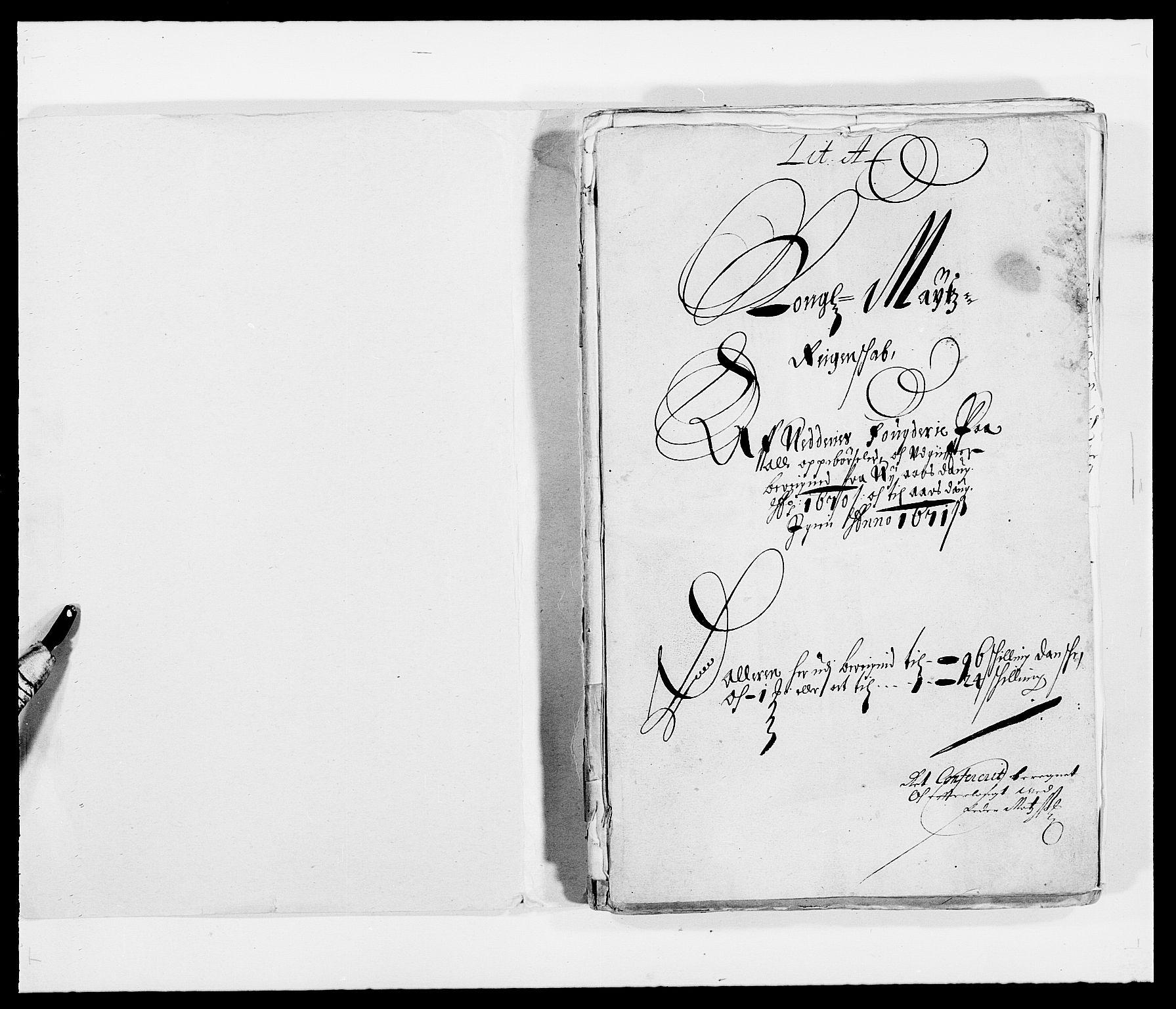 RA, Rentekammeret inntil 1814, Reviderte regnskaper, Fogderegnskap, R39/L2299: Fogderegnskap Nedenes, 1670-1671, s. 2