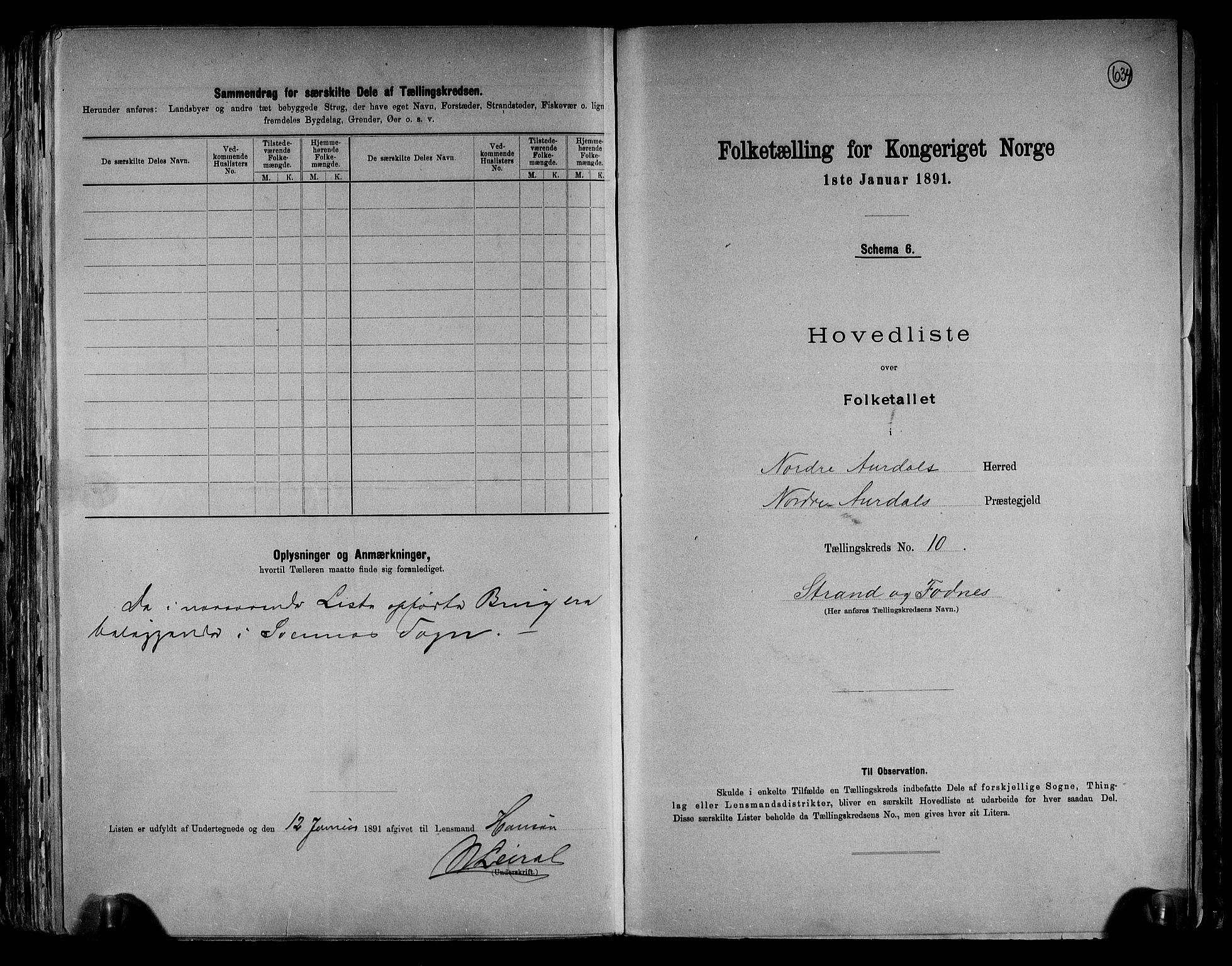 RA, Folketelling 1891 for 0542 Nord-Aurdal herred, 1891, s. 29