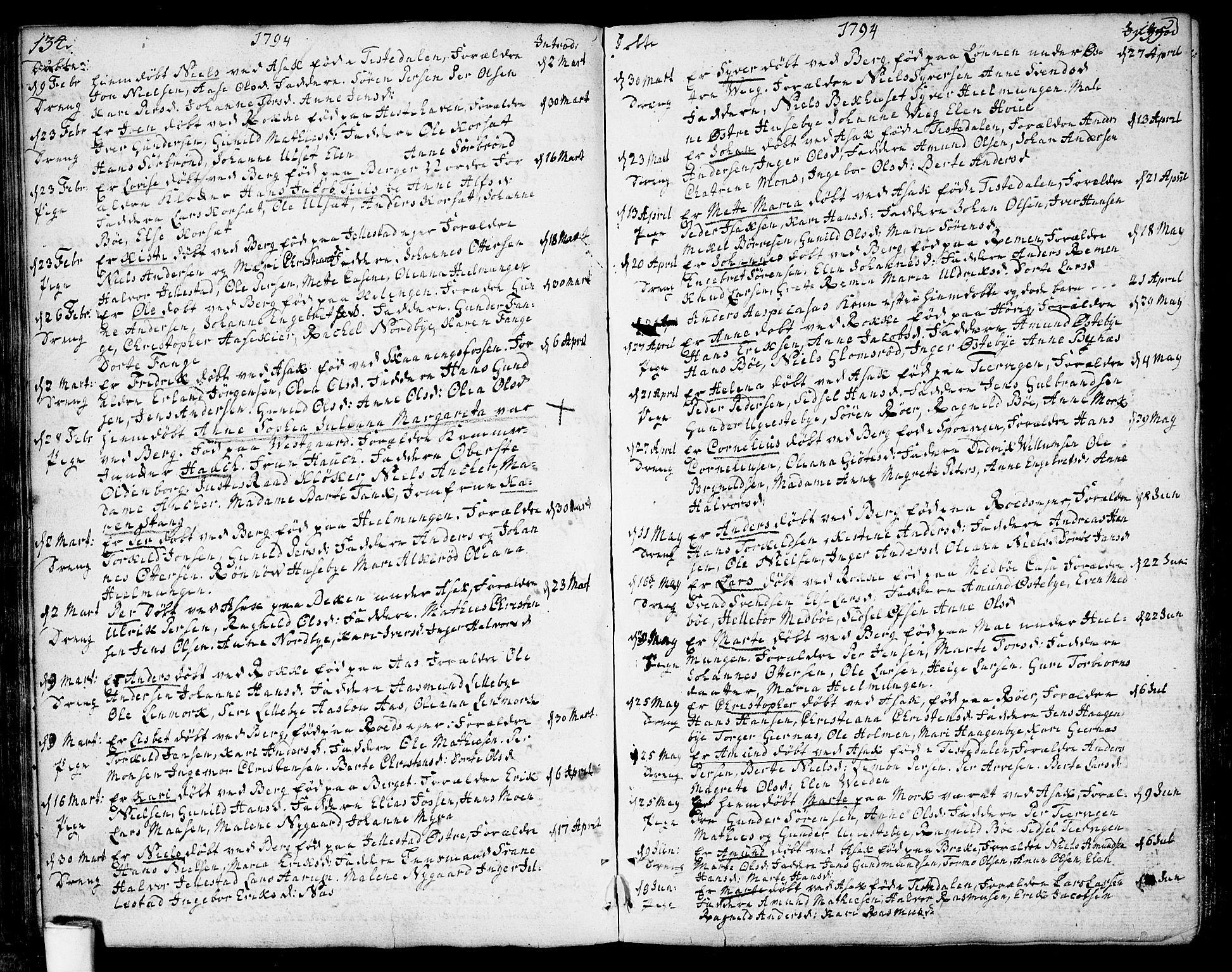 SAO, Berg prestekontor Kirkebøker, F/Fa/L0001: Ministerialbok nr. I 1, 1770-1814, s. 134-135