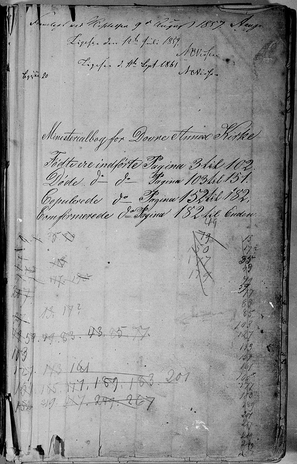 SAH, Lesja prestekontor, Klokkerbok nr. 3, 1842-1862