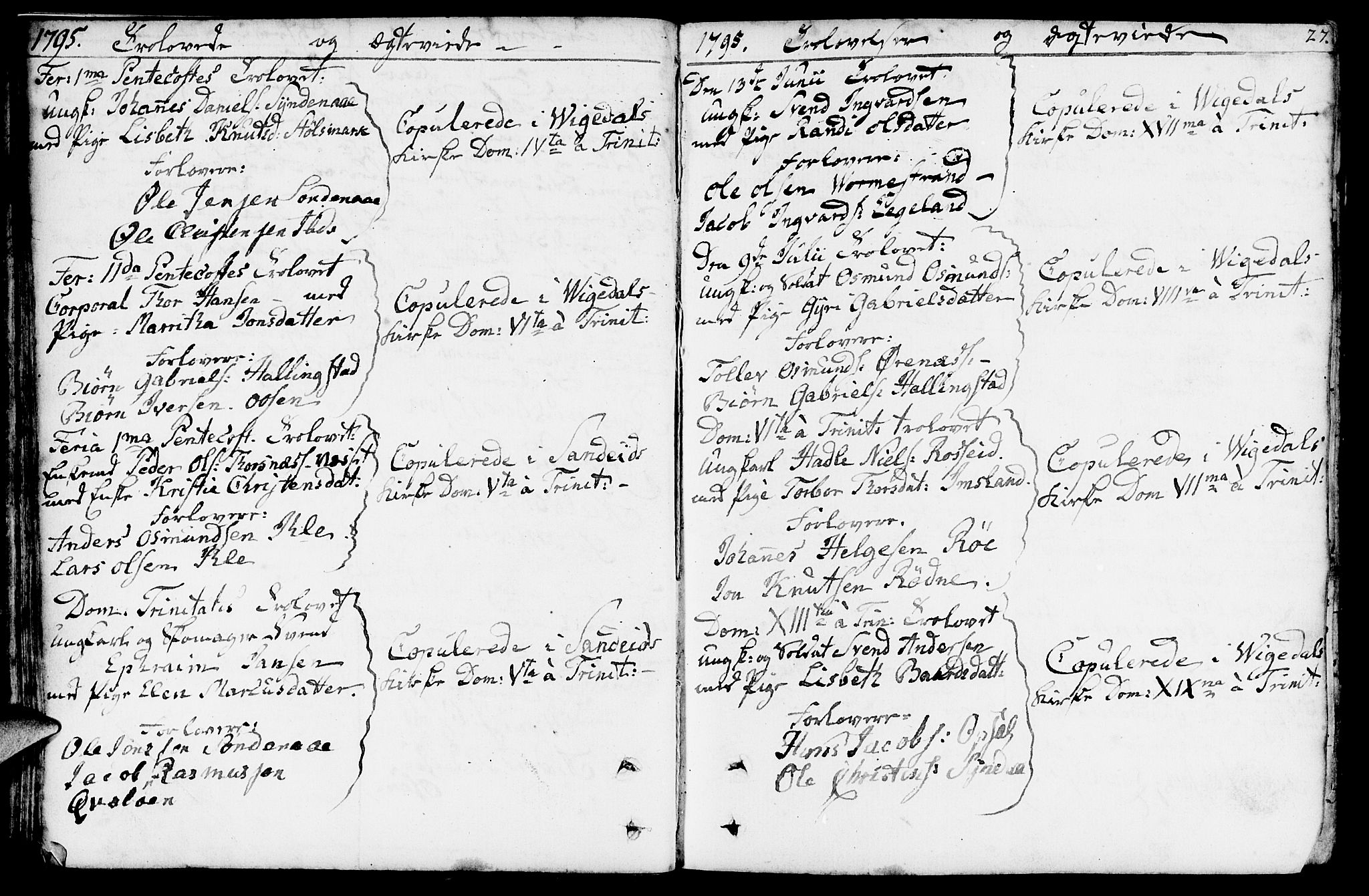 SAST, Vikedal sokneprestkontor, IV: Ministerialbok nr. A 2, 1779-1817, s. 27