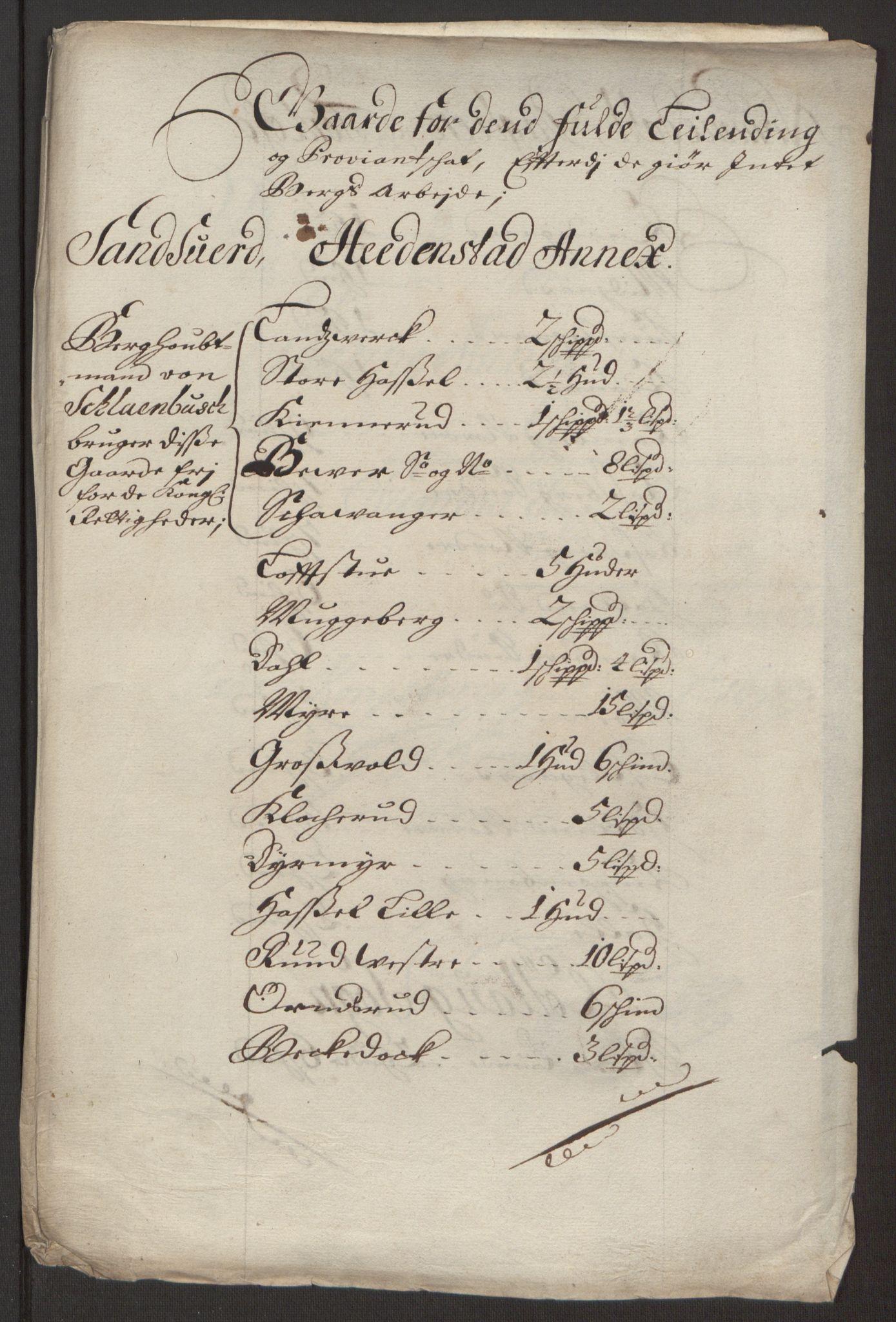 RA, Rentekammeret inntil 1814, Reviderte regnskaper, Fogderegnskap, R24/L1575: Fogderegnskap Numedal og Sandsvær, 1692-1695, s. 403