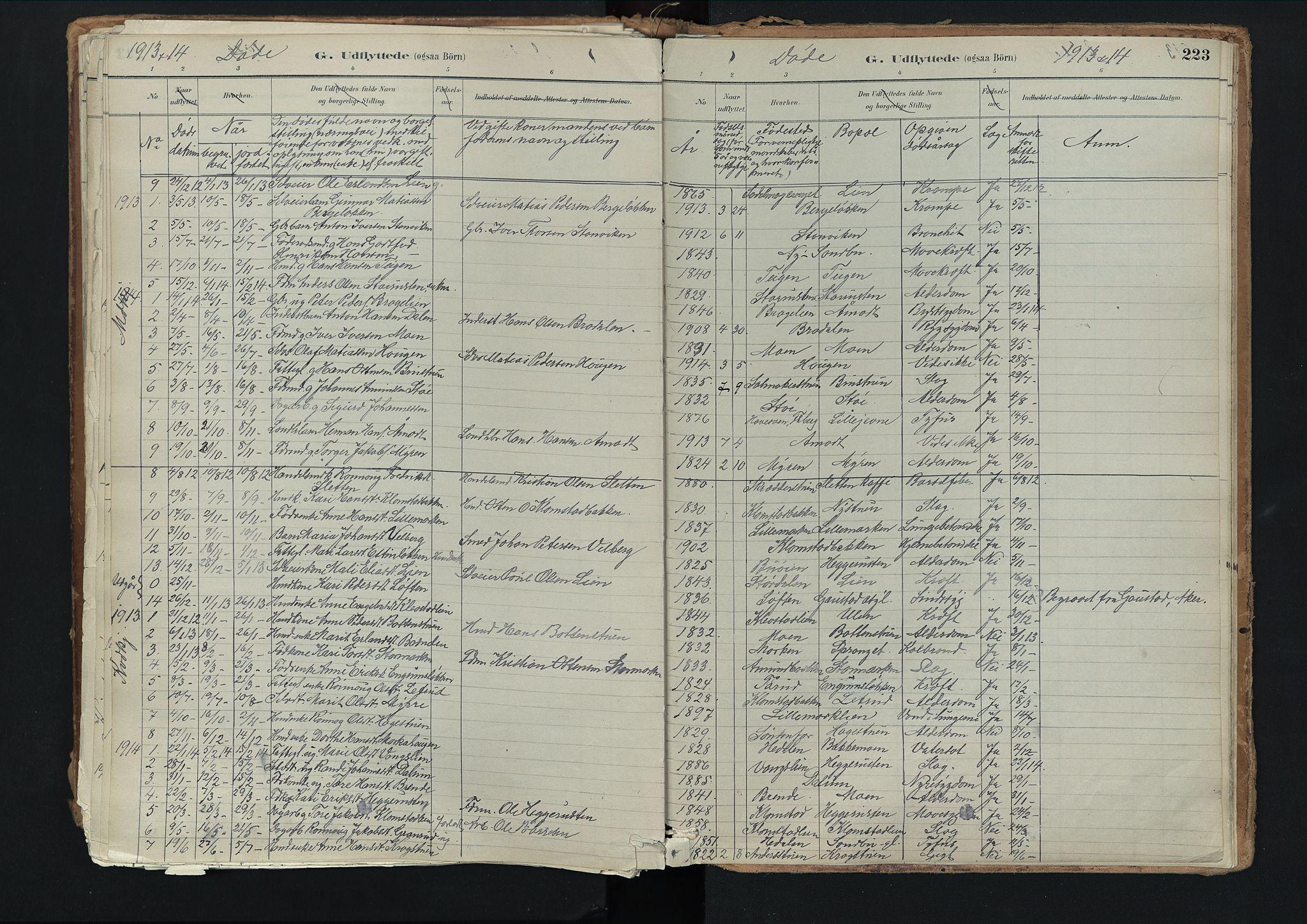 SAH, Nord-Fron prestekontor, Ministerialbok nr. 3, 1884-1914, s. 223