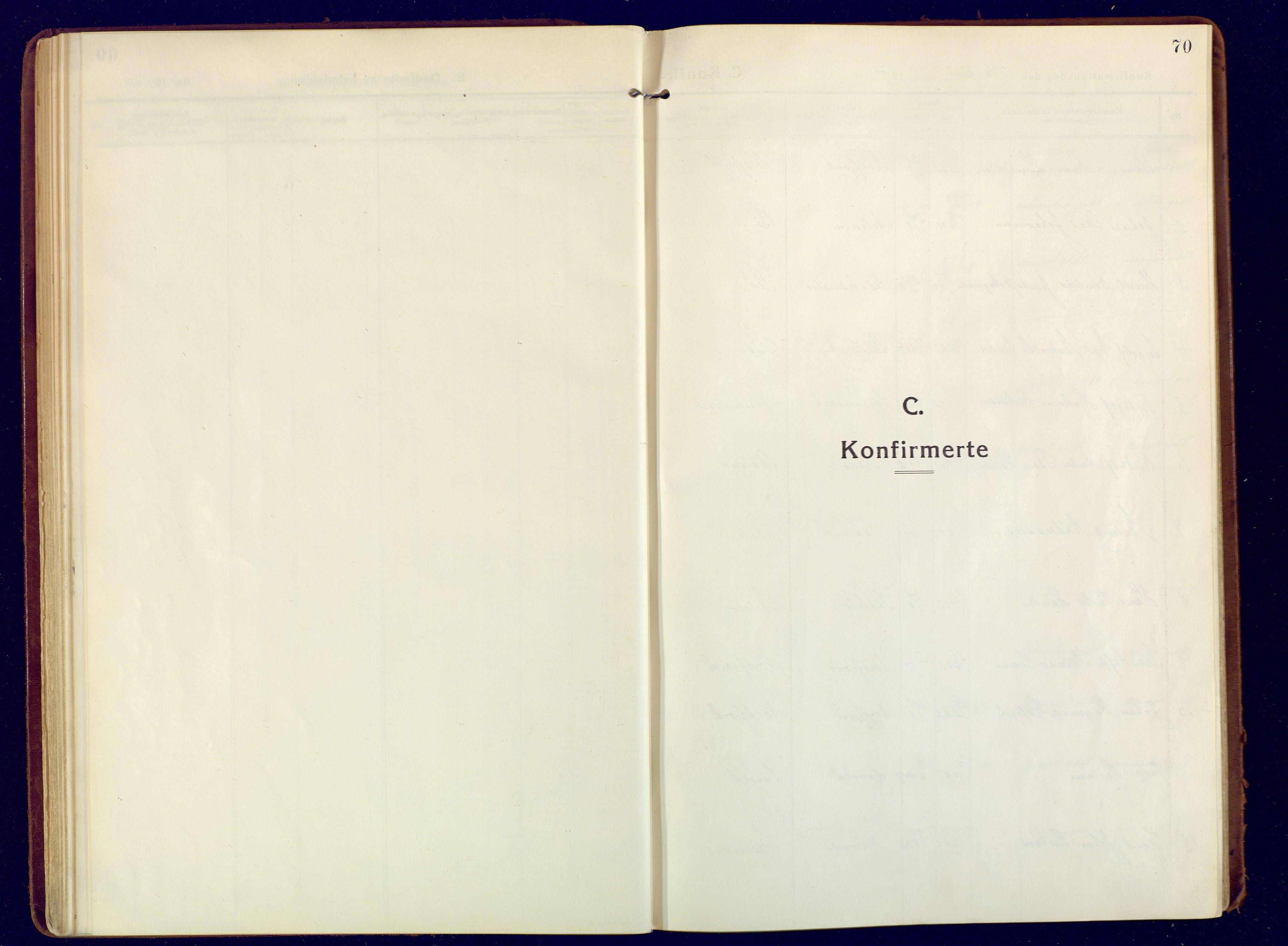 SATØ, Mefjord/Berg sokneprestkontor, G/Ga/Gaa: Ministerialbok nr. 9, 1916-1928, s. 70