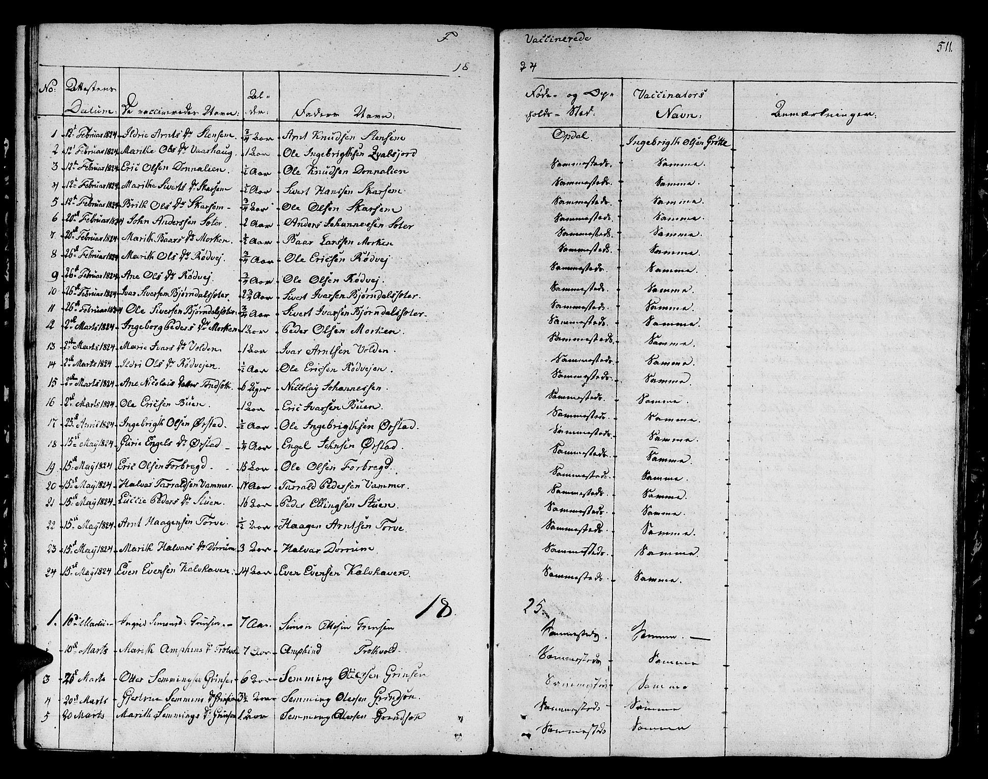 SAT, Ministerialprotokoller, klokkerbøker og fødselsregistre - Sør-Trøndelag, 678/L0897: Ministerialbok nr. 678A06-07, 1821-1847, s. 511