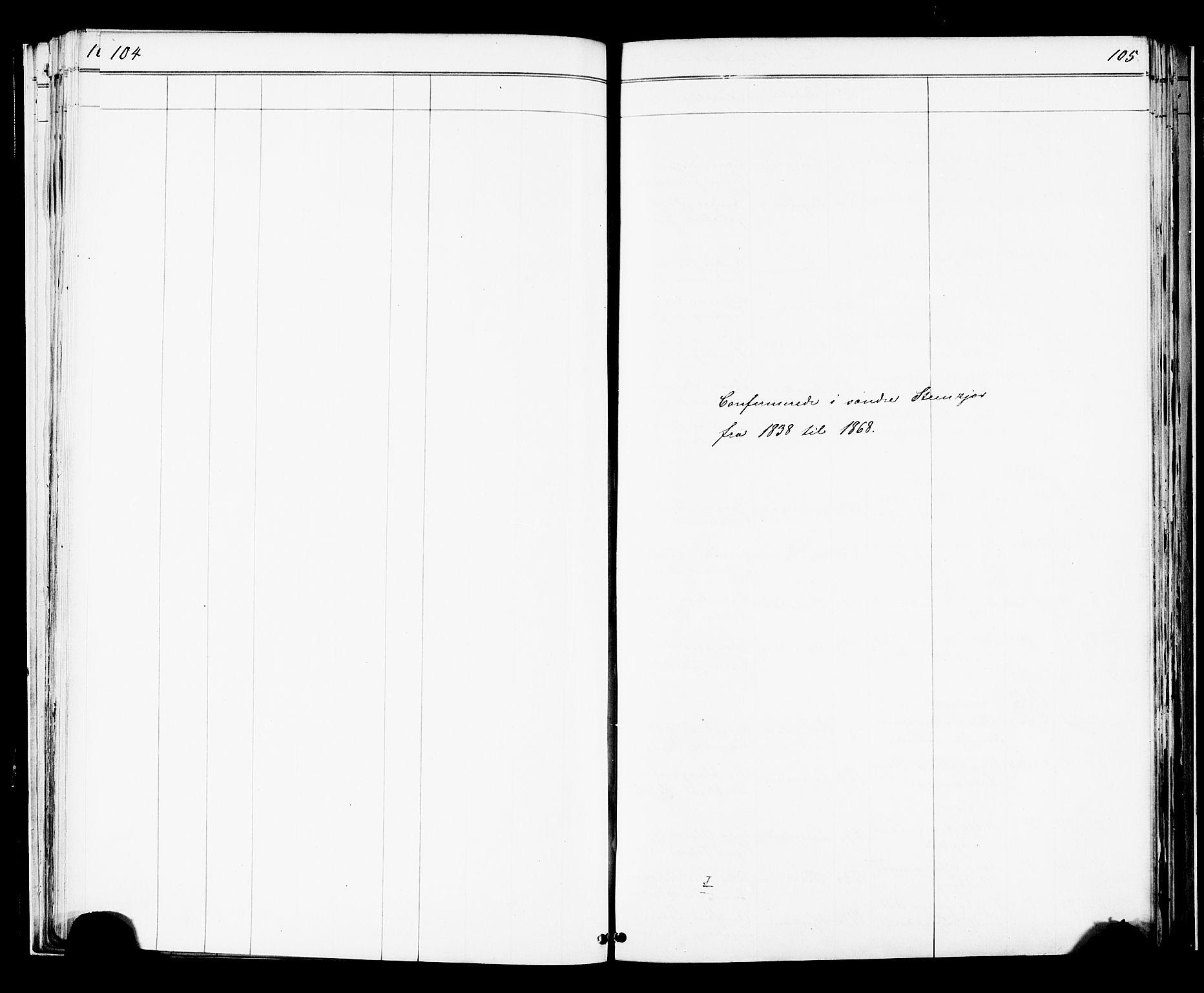 SAT, Ministerialprotokoller, klokkerbøker og fødselsregistre - Nord-Trøndelag, 739/L0367: Ministerialbok nr. 739A01 /1, 1838-1868, s. 104-105