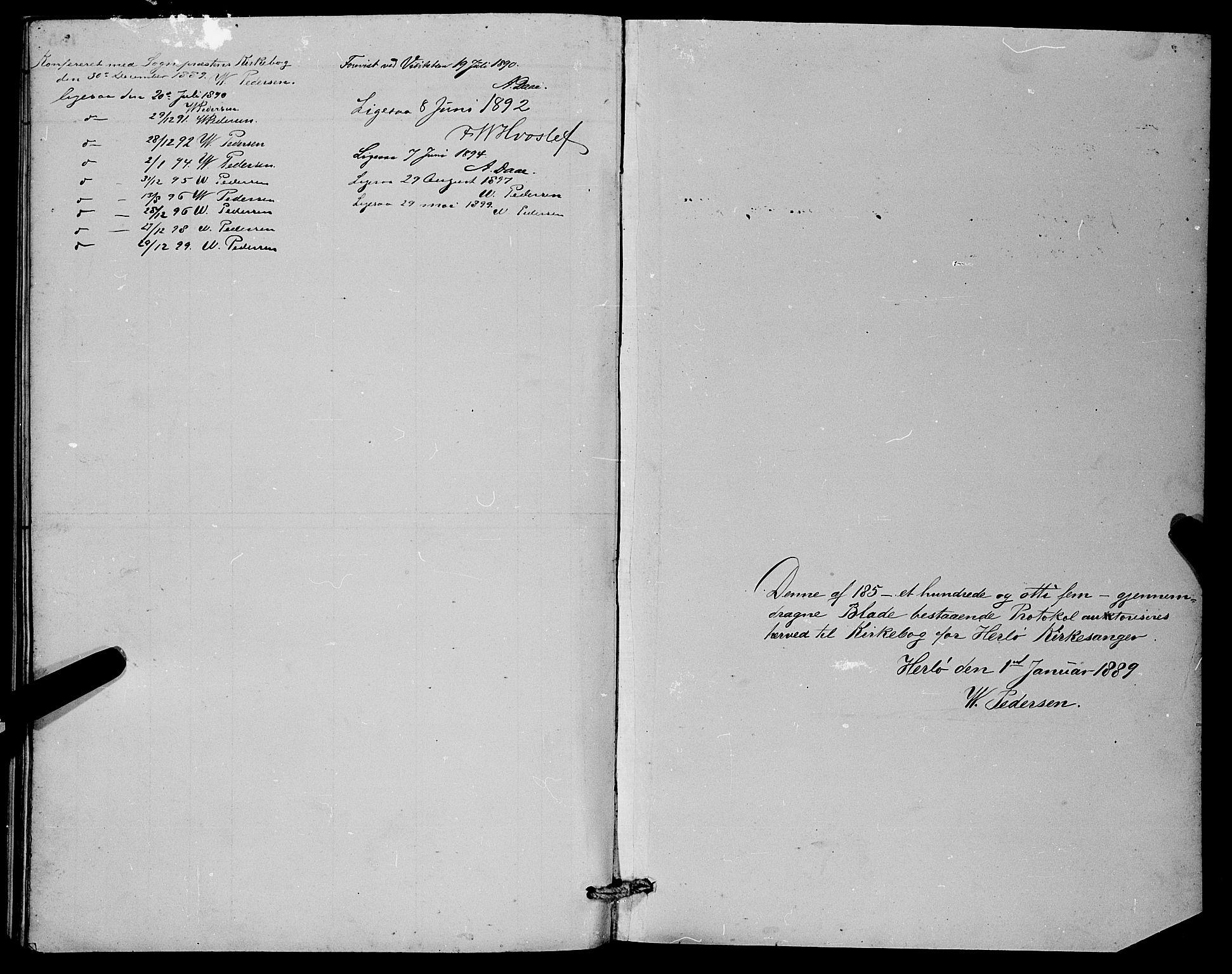 SAB, Herdla Sokneprestembete, H/Hab: Klokkerbok nr. A 3, 1889-1899, s. 180