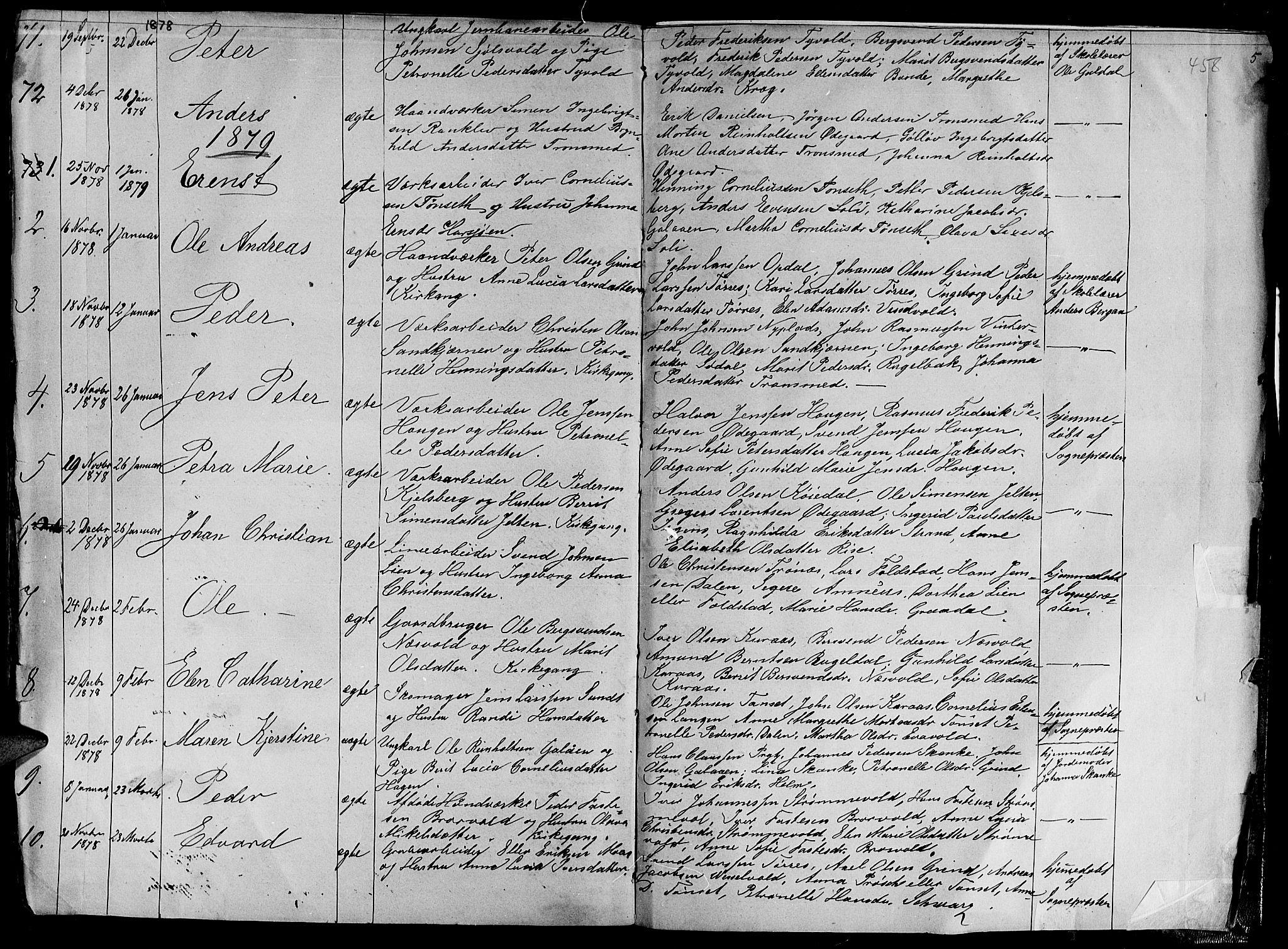 SAT, Ministerialprotokoller, klokkerbøker og fødselsregistre - Sør-Trøndelag, 681/L0938: Klokkerbok nr. 681C02, 1829-1879, s. 458