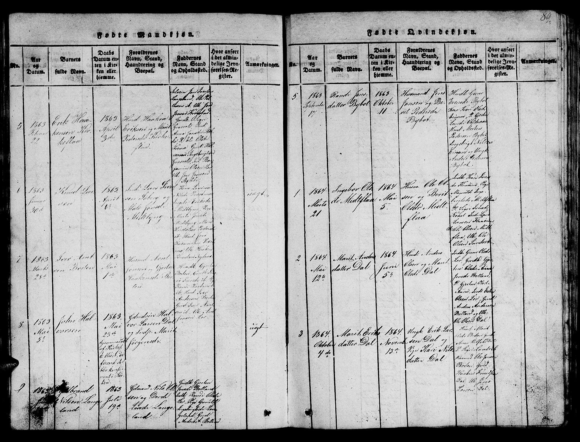 SAT, Ministerialprotokoller, klokkerbøker og fødselsregistre - Sør-Trøndelag, 693/L1121: Klokkerbok nr. 693C02, 1816-1869, s. 89