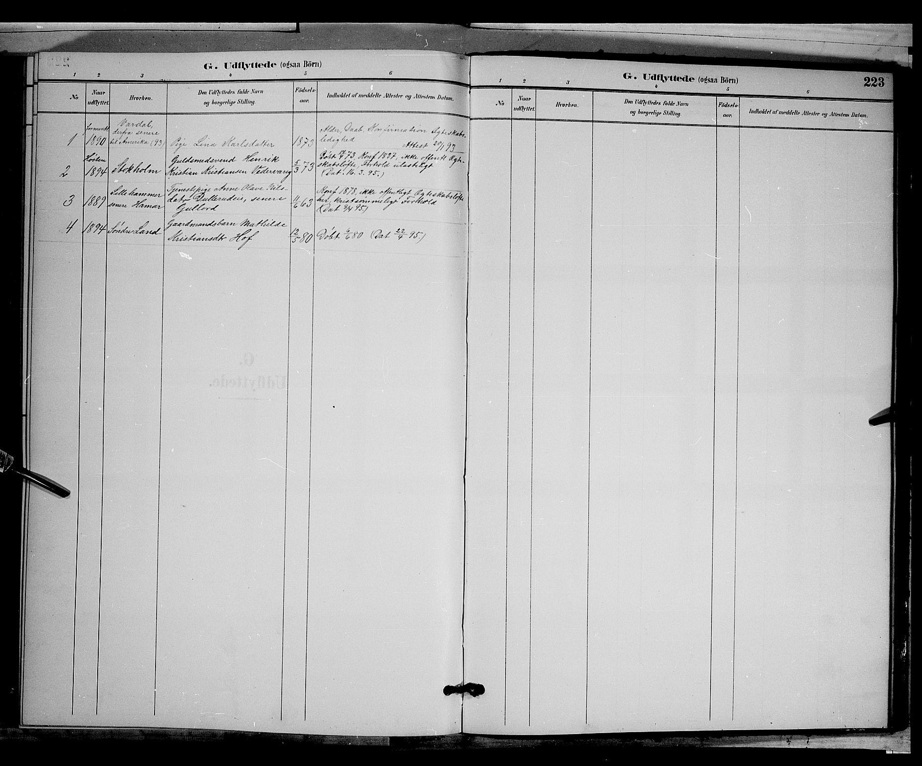 SAH, Biri prestekontor, Klokkerbok nr. 3, 1892-1905, s. 223