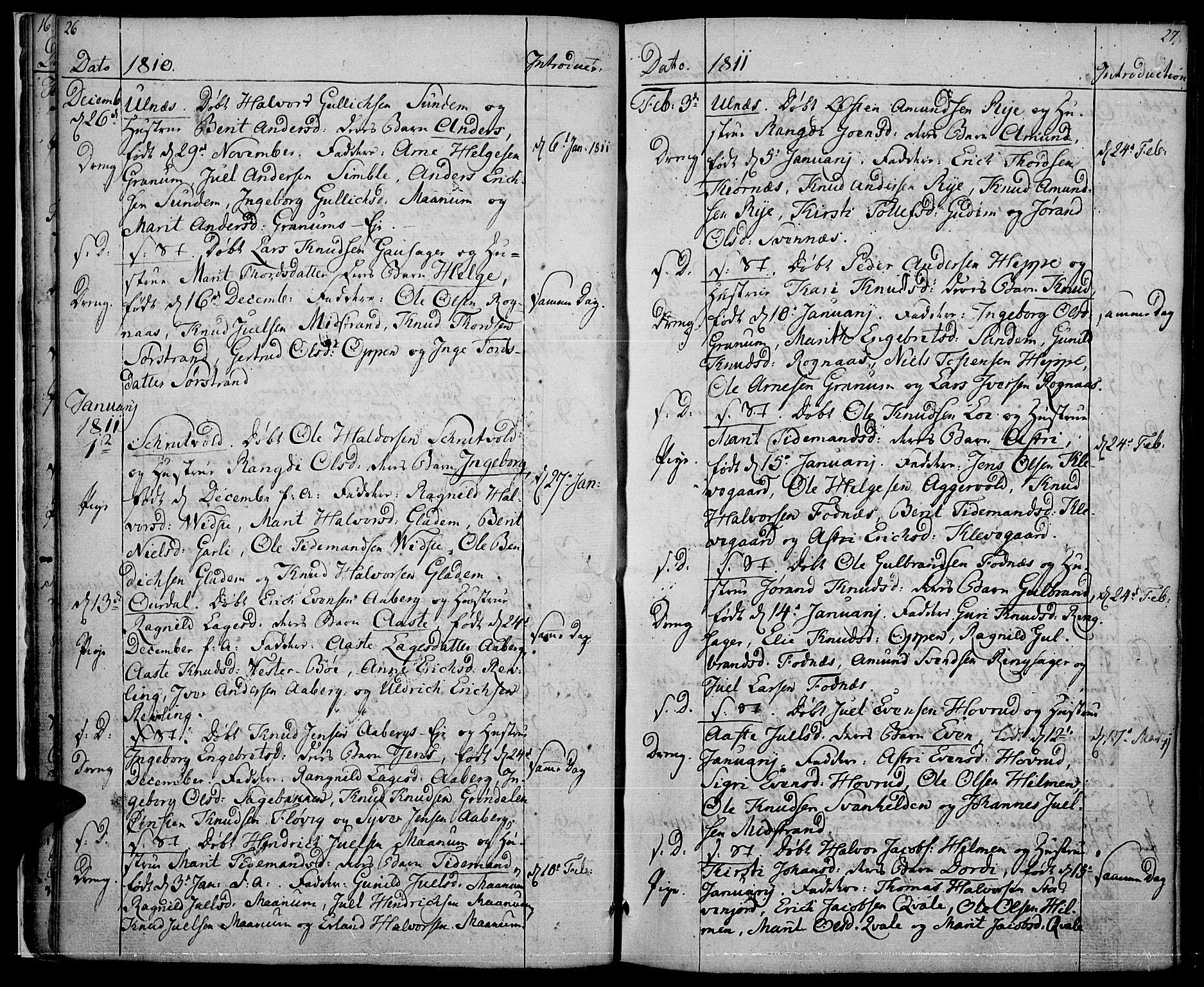 SAH, Nord-Aurdal prestekontor, Ministerialbok nr. 1, 1808-1815, s. 26-27