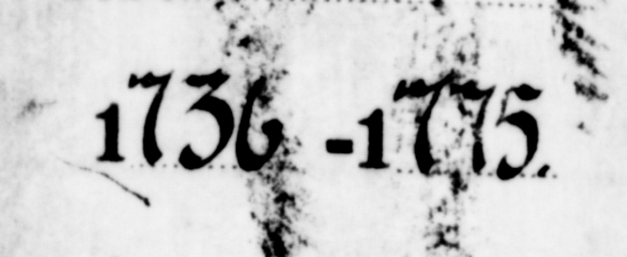 SAT, Ministerialprotokoller, klokkerbøker og fødselsregistre - Sør-Trøndelag, 634/L0525: Ministerialbok nr. 634A01, 1736-1775
