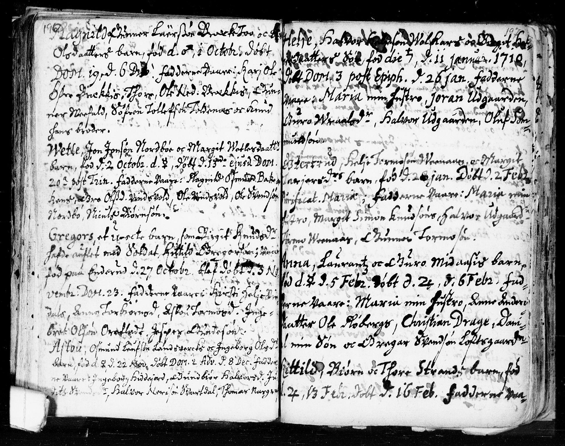 SAKO, Seljord kirkebøker, F/Fa/L0002: Ministerialbok nr. I 2, 1689-1713, s. 196-197