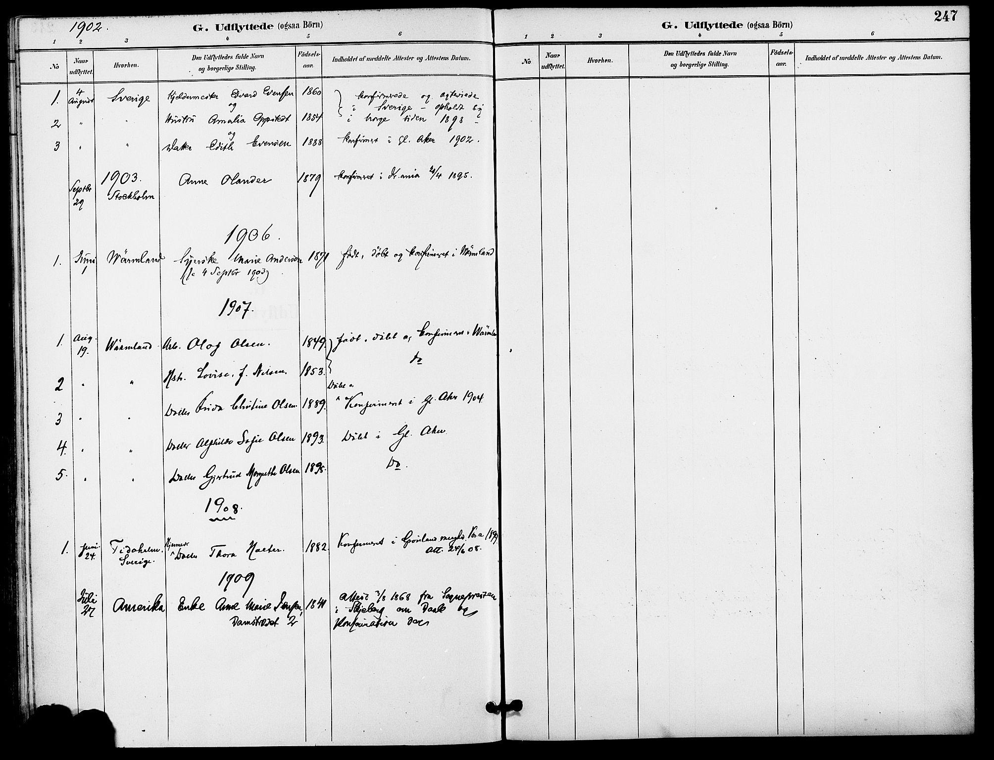 SAO, Gamle Aker prestekontor Kirkebøker, F/L0009: Ministerialbok nr. 9, 1890-1898, s. 247