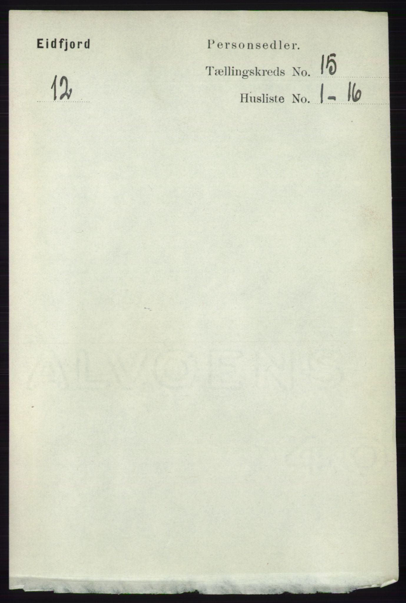 RA, Folketelling 1891 for 1233 Ulvik herred, 1891, s. 4596