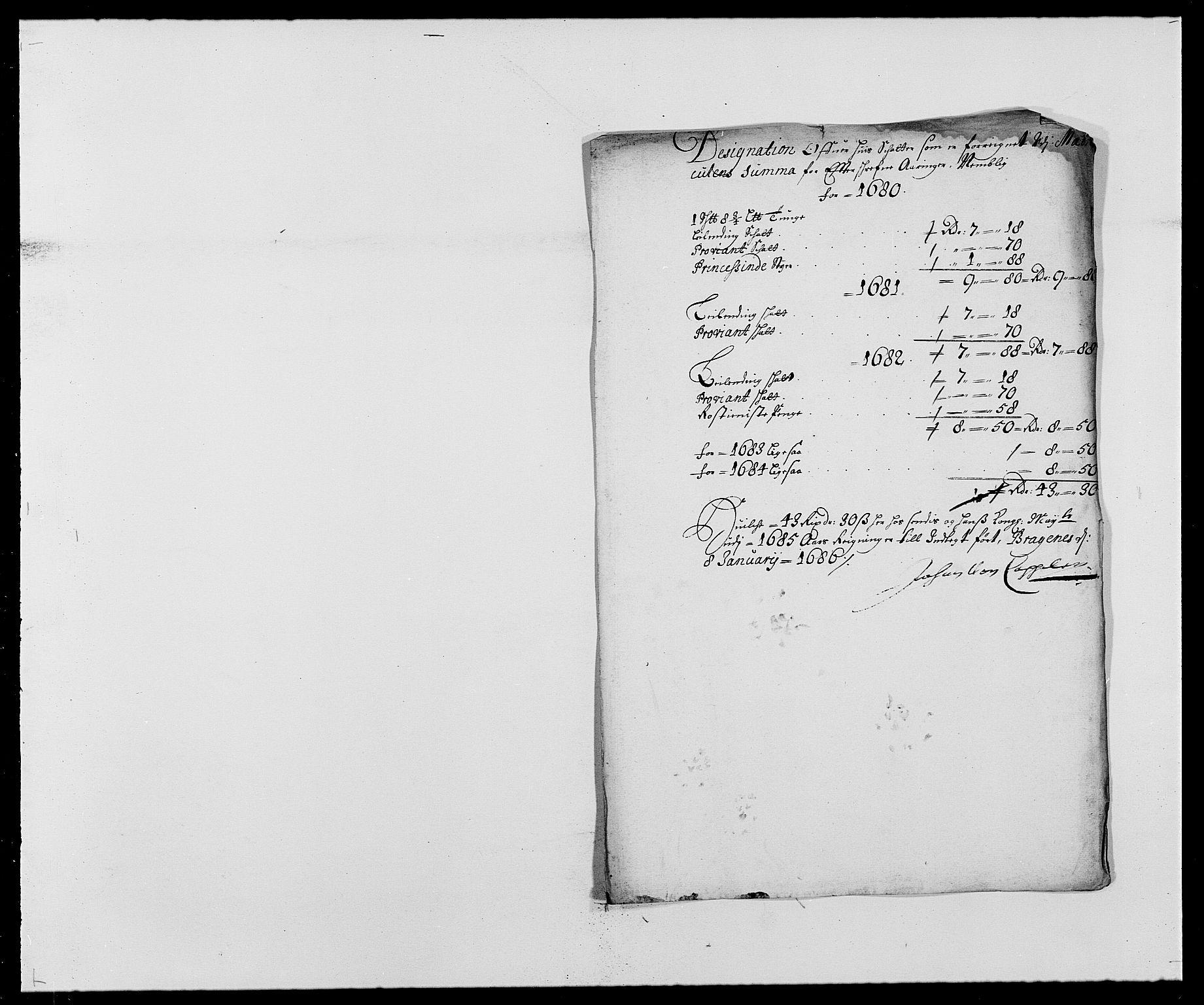 RA, Rentekammeret inntil 1814, Reviderte regnskaper, Fogderegnskap, R27/L1687: Fogderegnskap Lier, 1678-1686, s. 224
