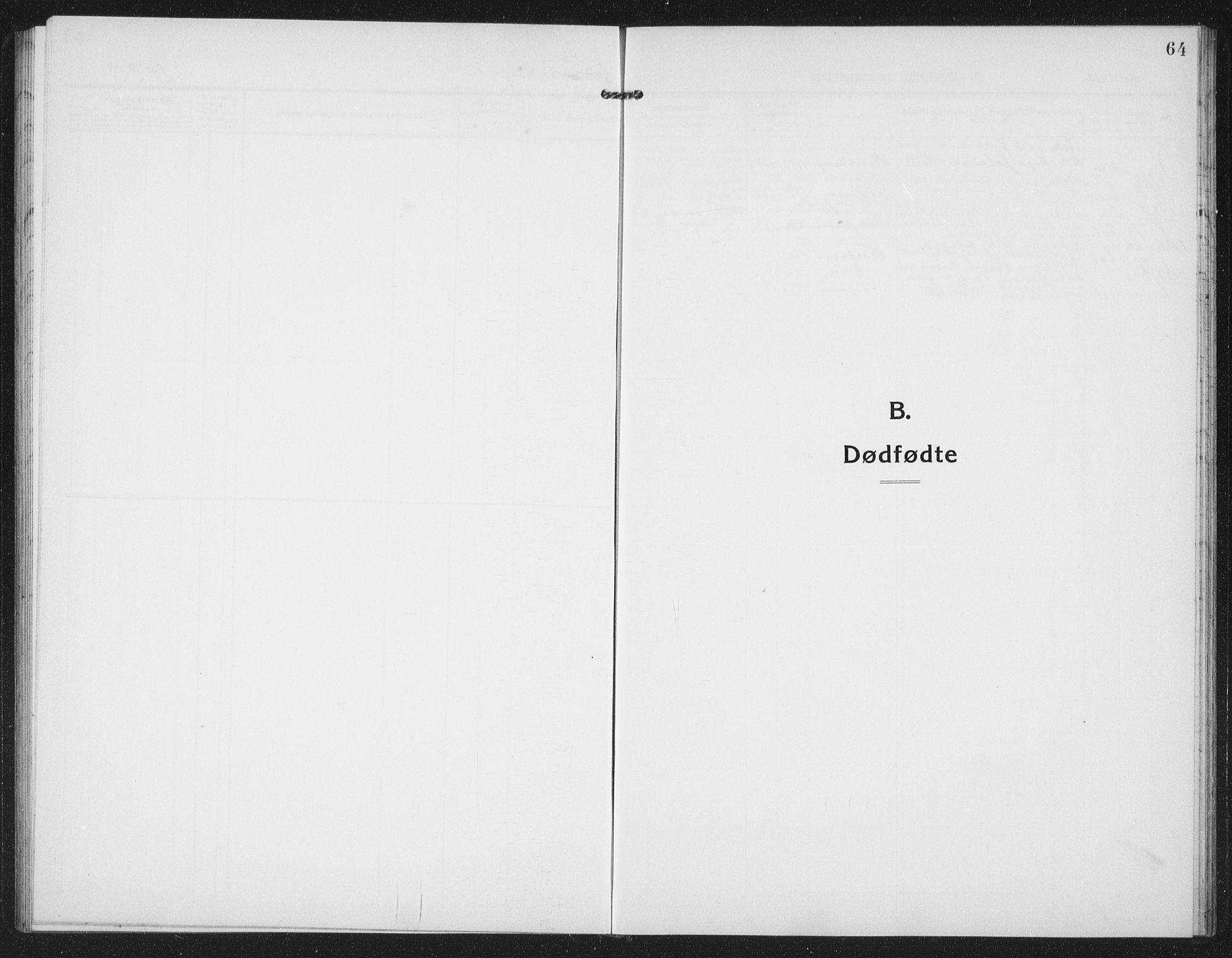 SAT, Ministerialprotokoller, klokkerbøker og fødselsregistre - Sør-Trøndelag, 659/L0750: Klokkerbok nr. 659C07, 1914-1940, s. 64