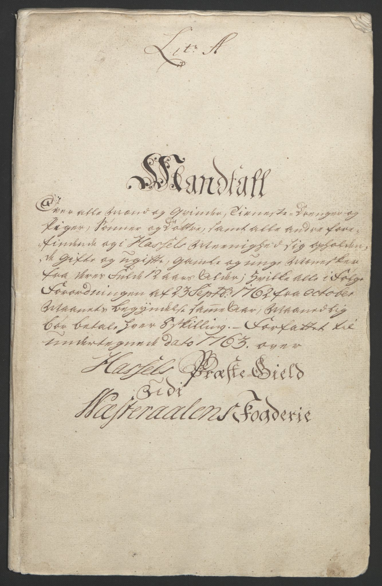 RA, Rentekammeret inntil 1814, Reviderte regnskaper, Fogderegnskap, R67/L4747: Ekstraskatten Vesterålen, Andenes og Lofoten, 1762-1766, s. 39