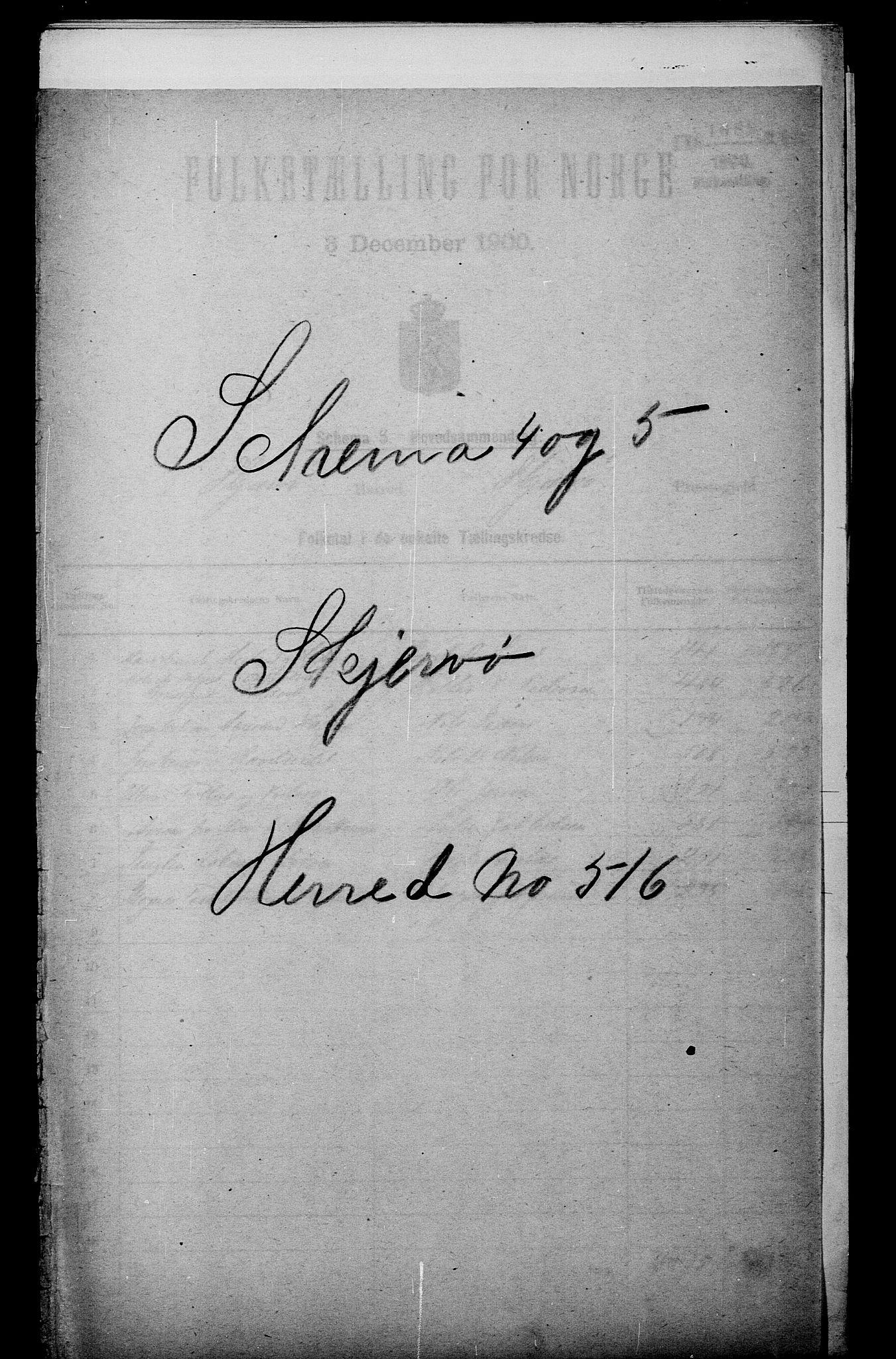 SATØ, Folketelling 1900 for 1941 Skjervøy herred, 1900, s. 1