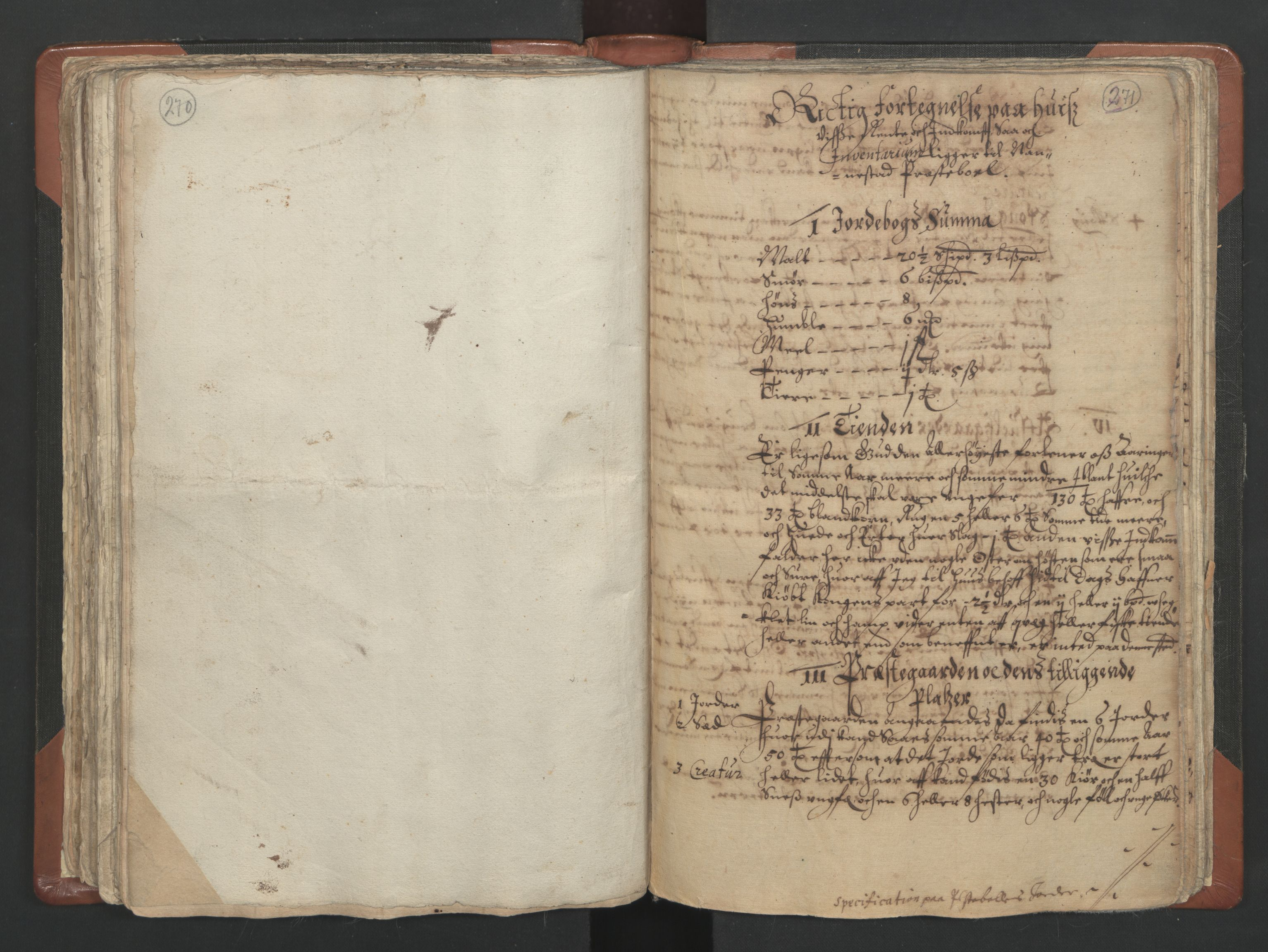 RA, Sogneprestenes manntall 1664-1666, nr. 4: Øvre Romerike prosti, 1664-1666, s. 270-271