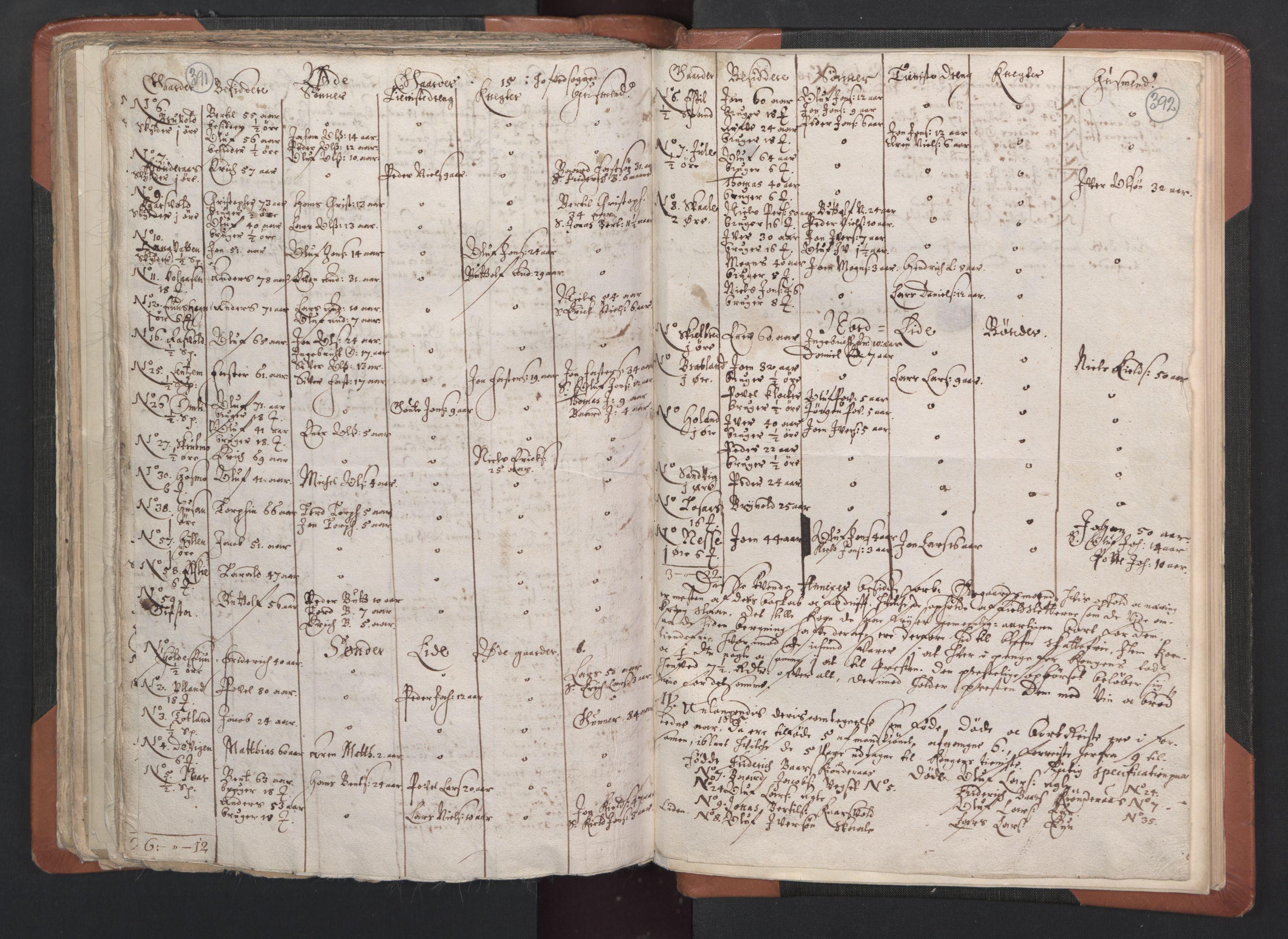 RA, Sogneprestenes manntall 1664-1666, nr. 33: Innherad prosti, 1664-1666, s. 391-392