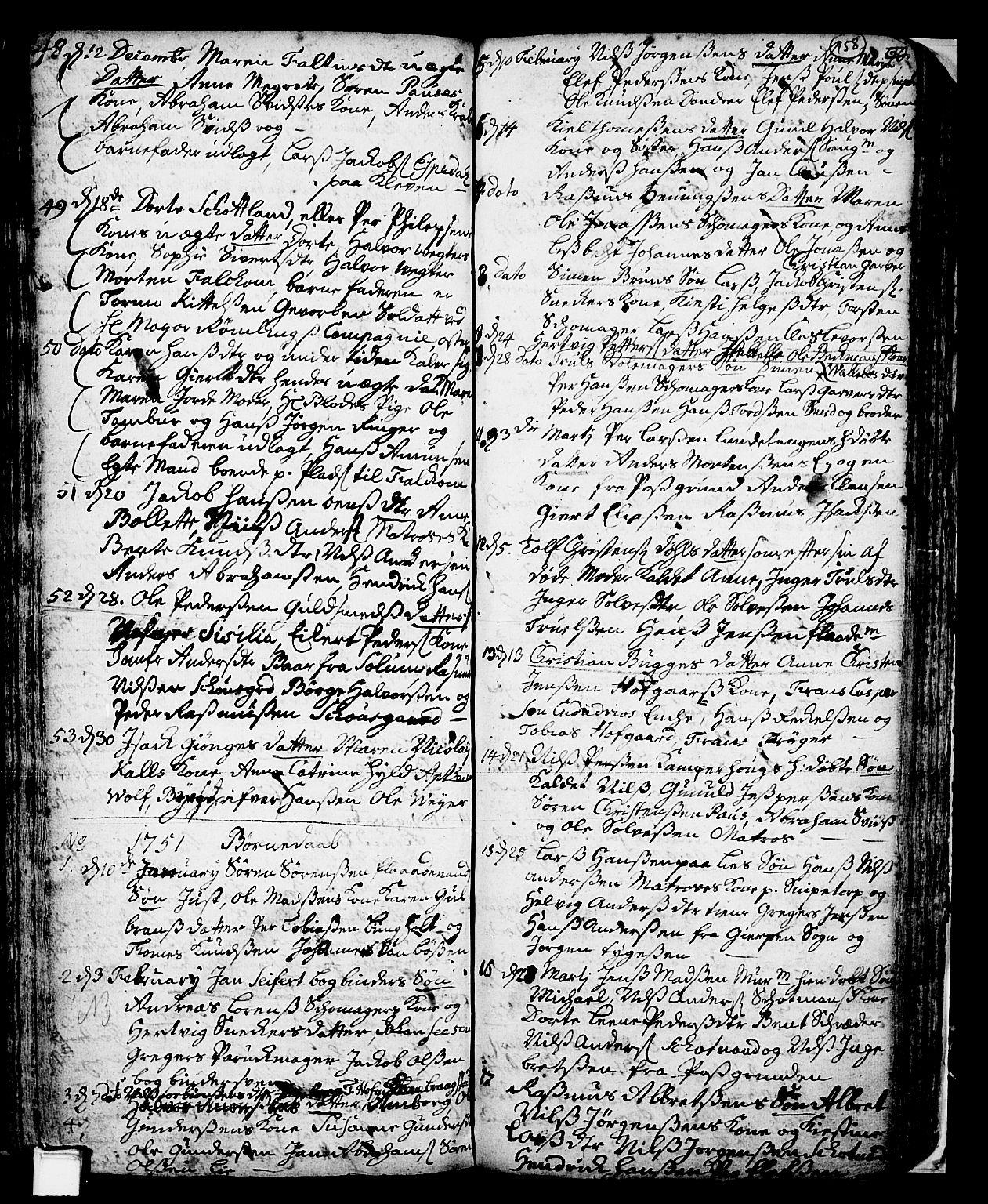 SAKO, Skien kirkebøker, F/Fa/L0002: Ministerialbok nr. 2, 1716-1757, s. 158