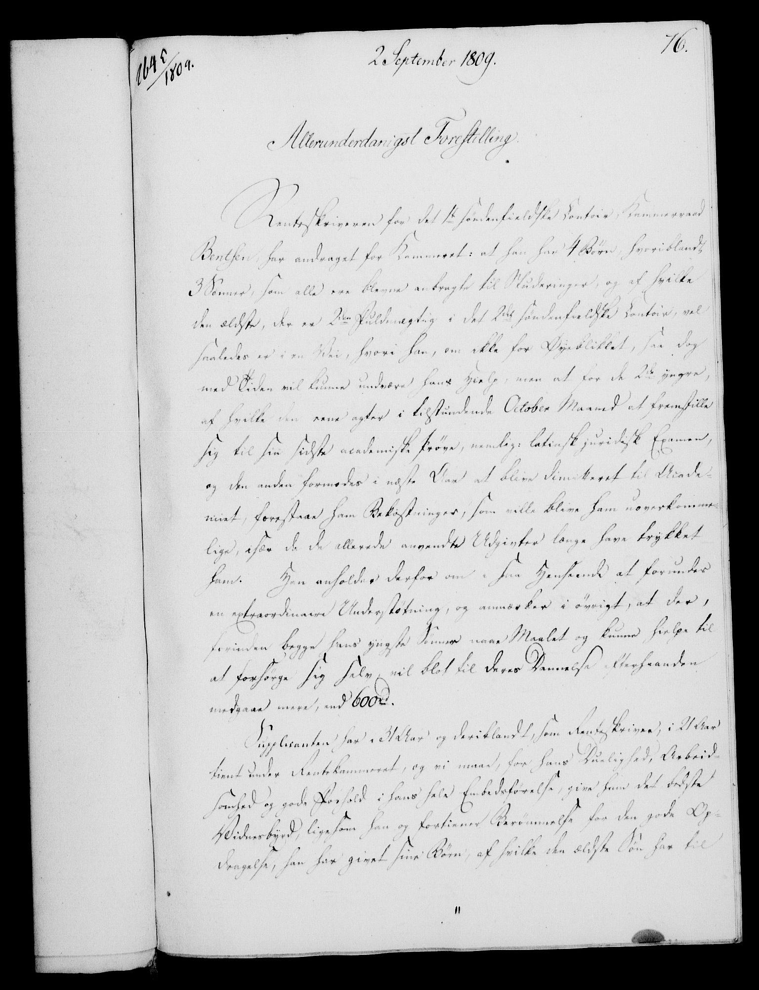 RA, Rentekammeret, Kammerkanselliet, G/Gf/Gfa/L0091: Norsk relasjons- og resolusjonsprotokoll (merket RK 52.91), 1809, s. 311