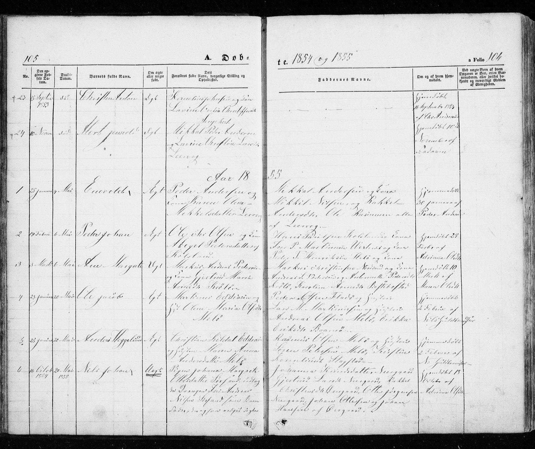 SATØ, Trondenes sokneprestkontor, H/Ha/L0010kirke: Ministerialbok nr. 10, 1840-1865, s. 105-106